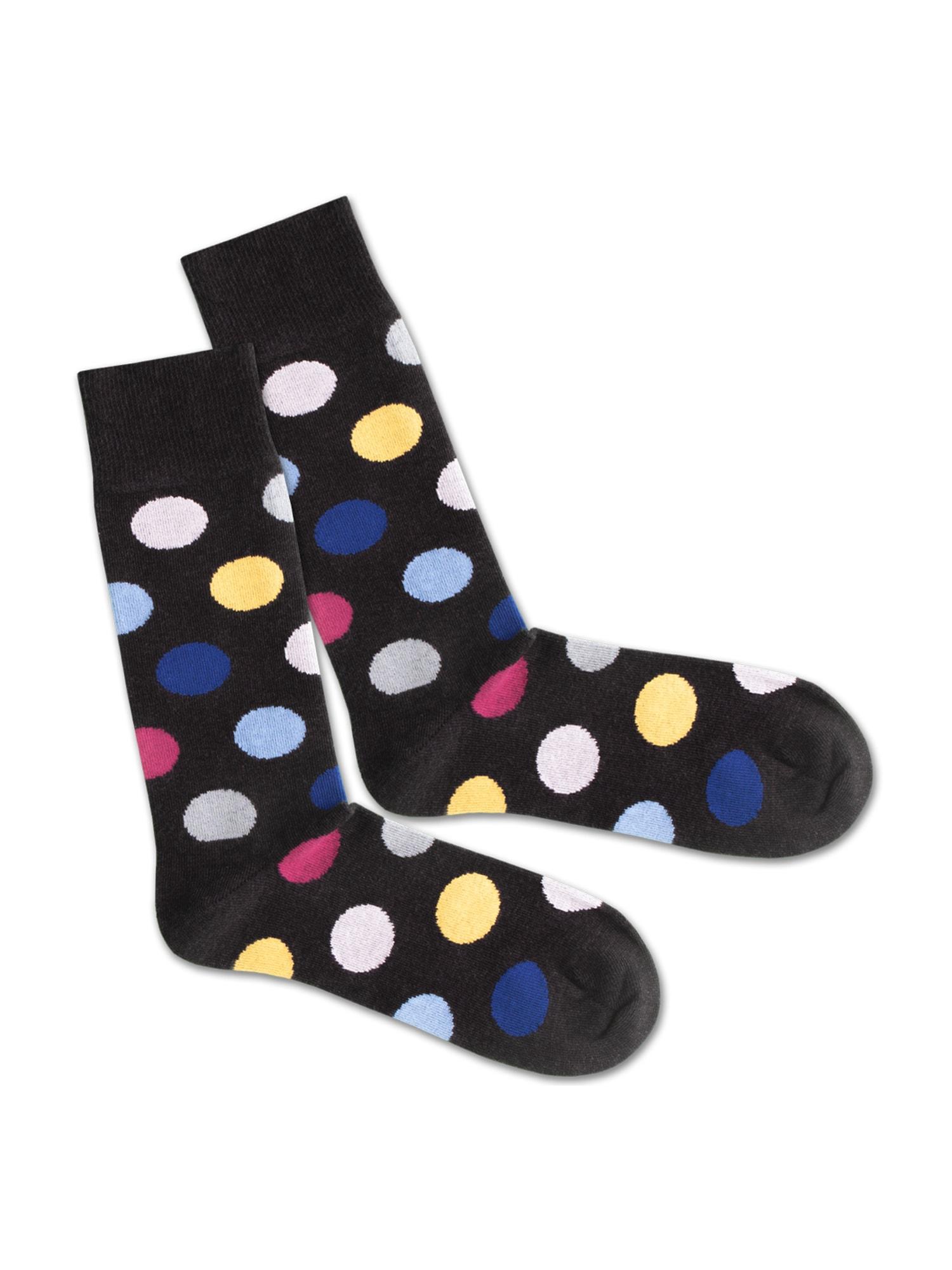DillySocks Ponožky 'Dark Ball Game'  mix barev / černá
