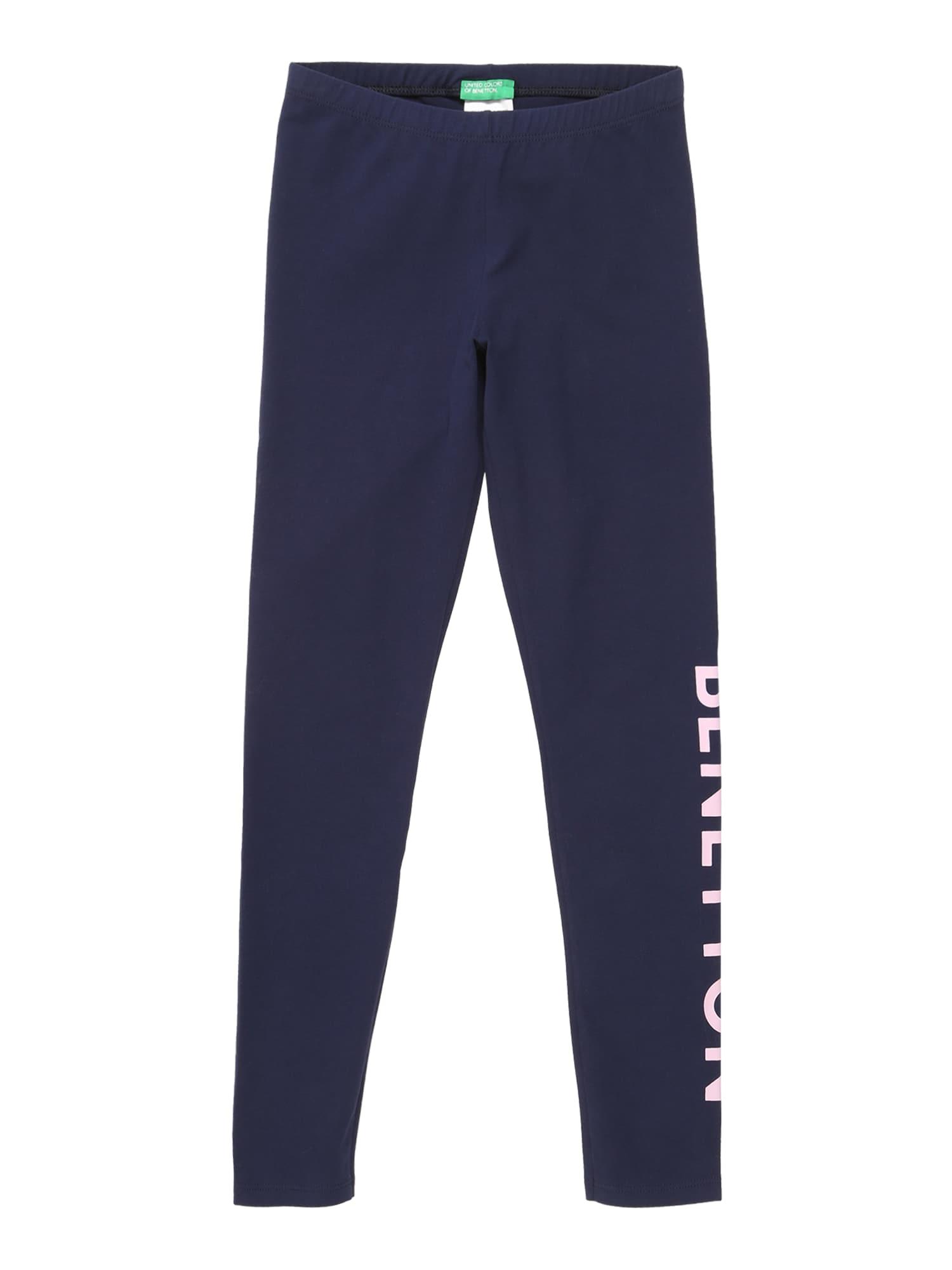 UNITED COLORS OF BENETTON Kalhoty  námořnická modř / bílá