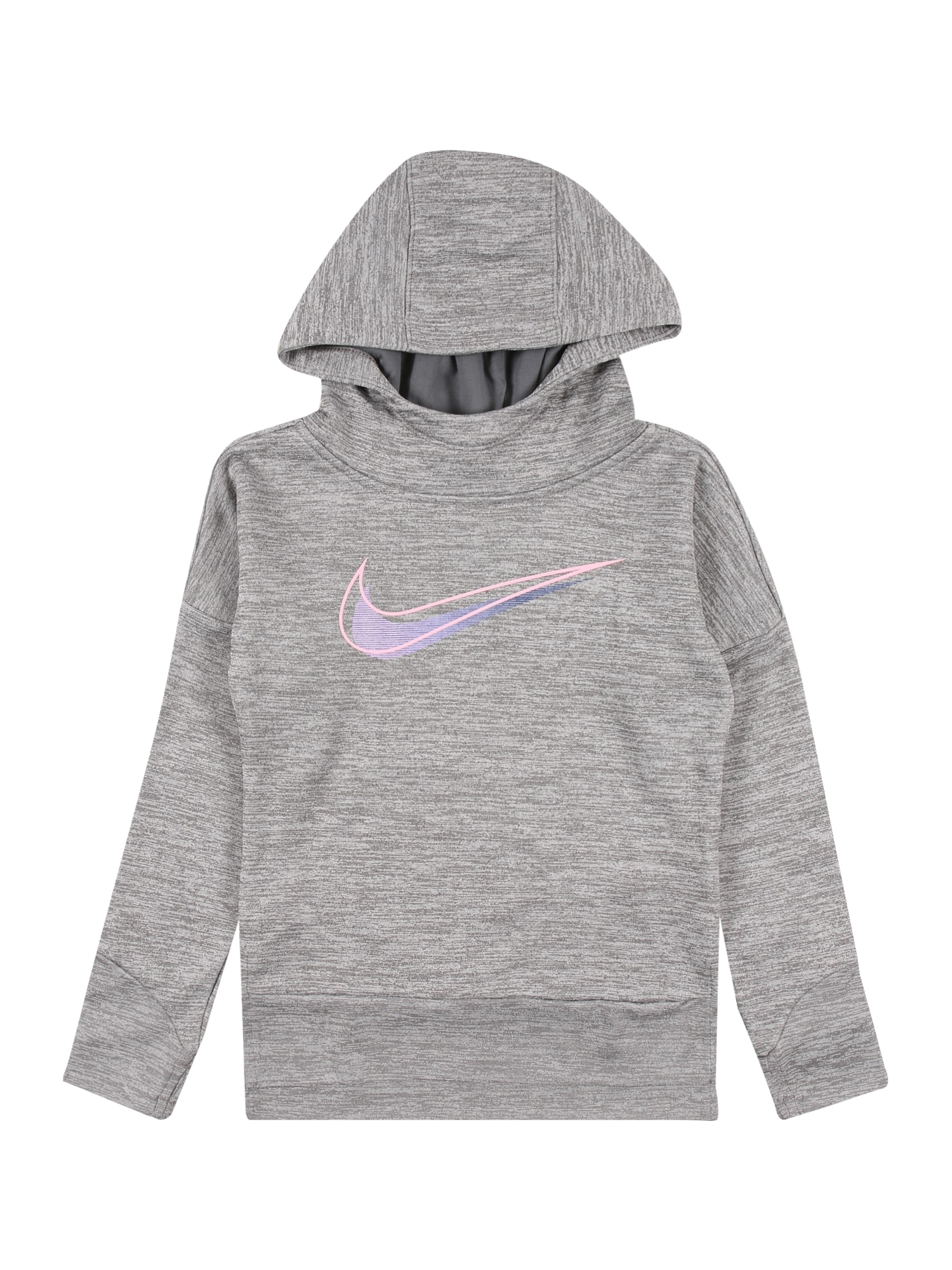 NIKE Sportinio tipo megztinis šviesiai violetinė / margai pilka