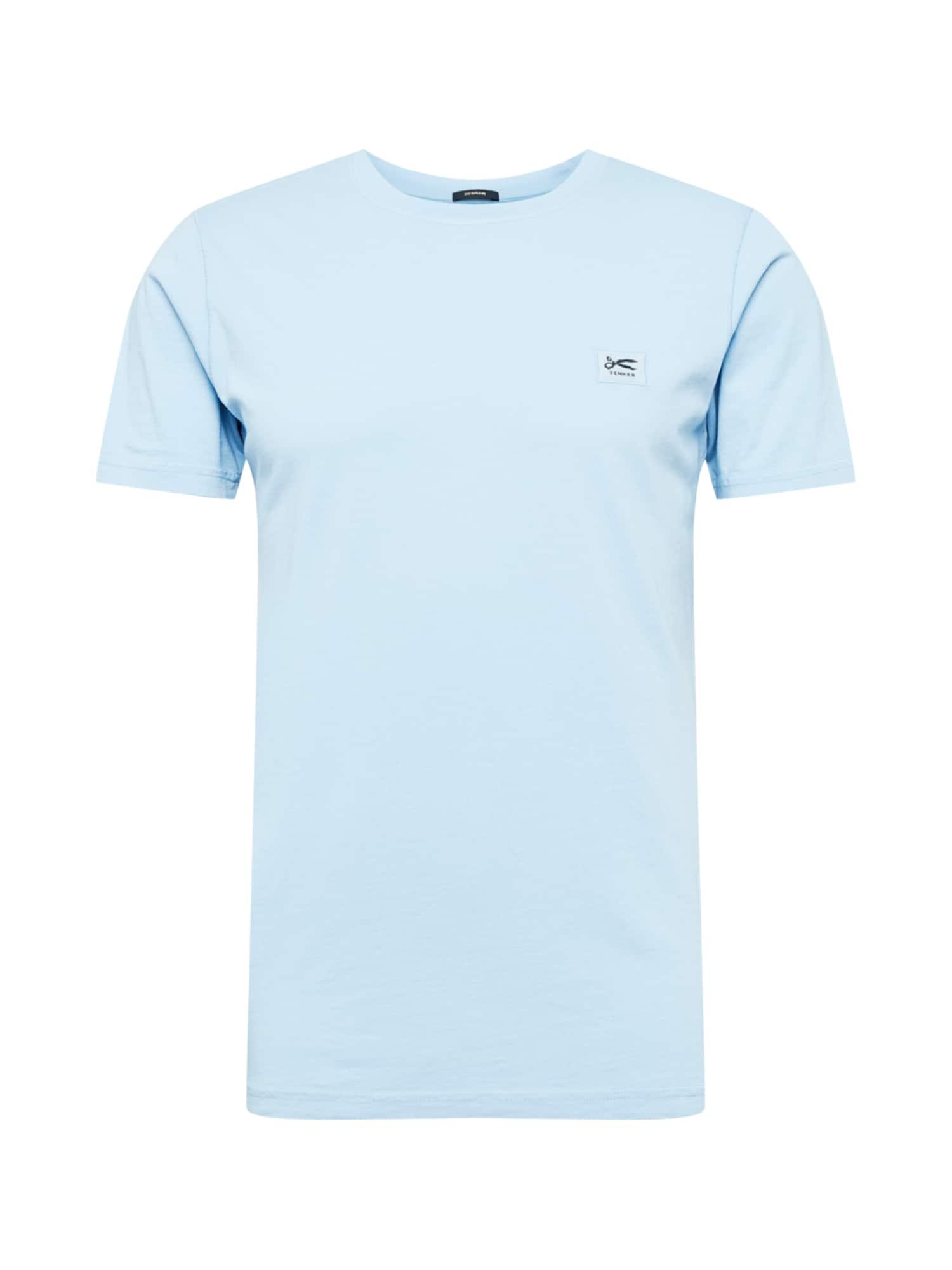 DENHAM Marškinėliai šviesiai mėlyna