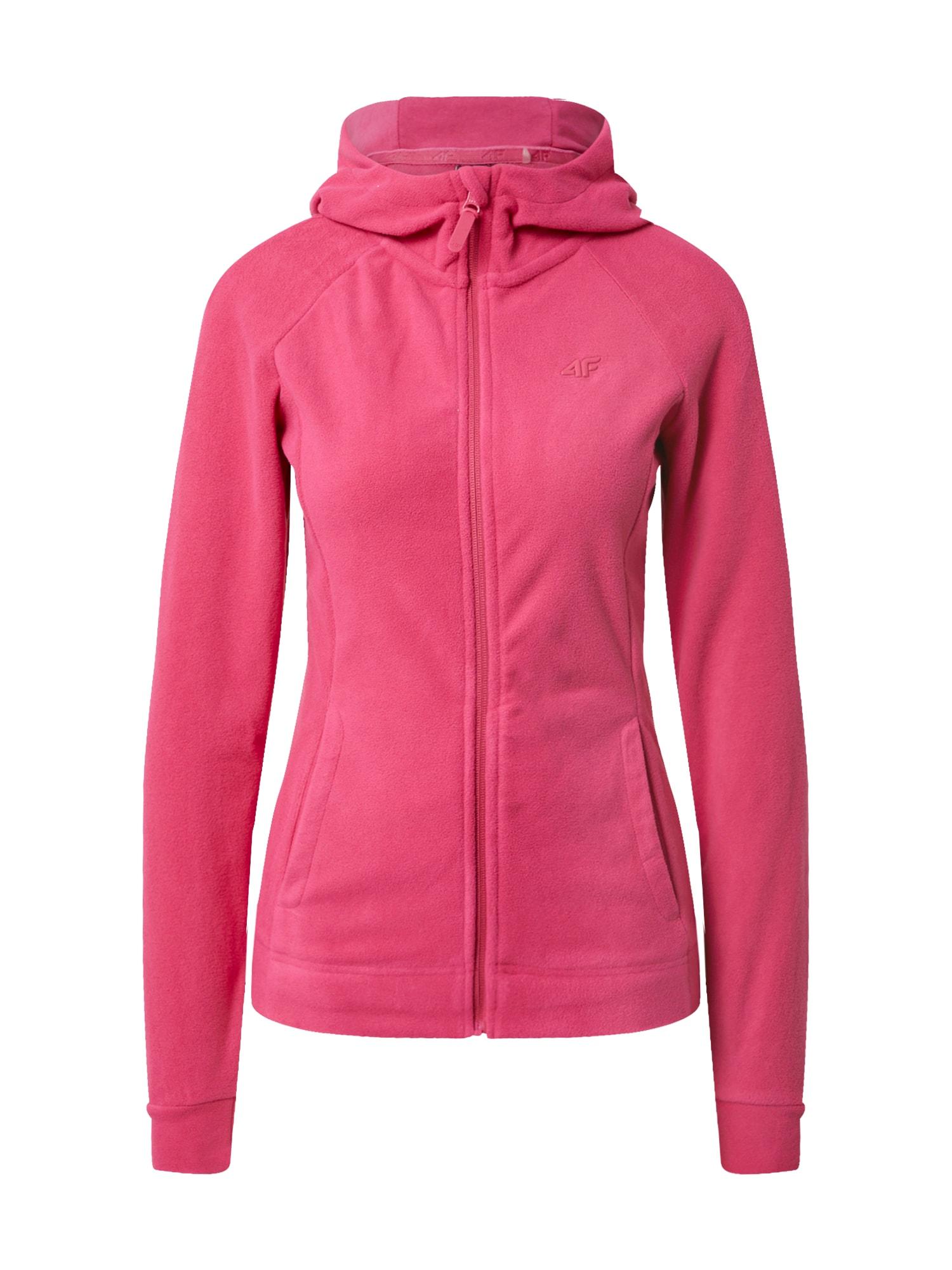 4F Funkcinis flisinis džemperis rožinė