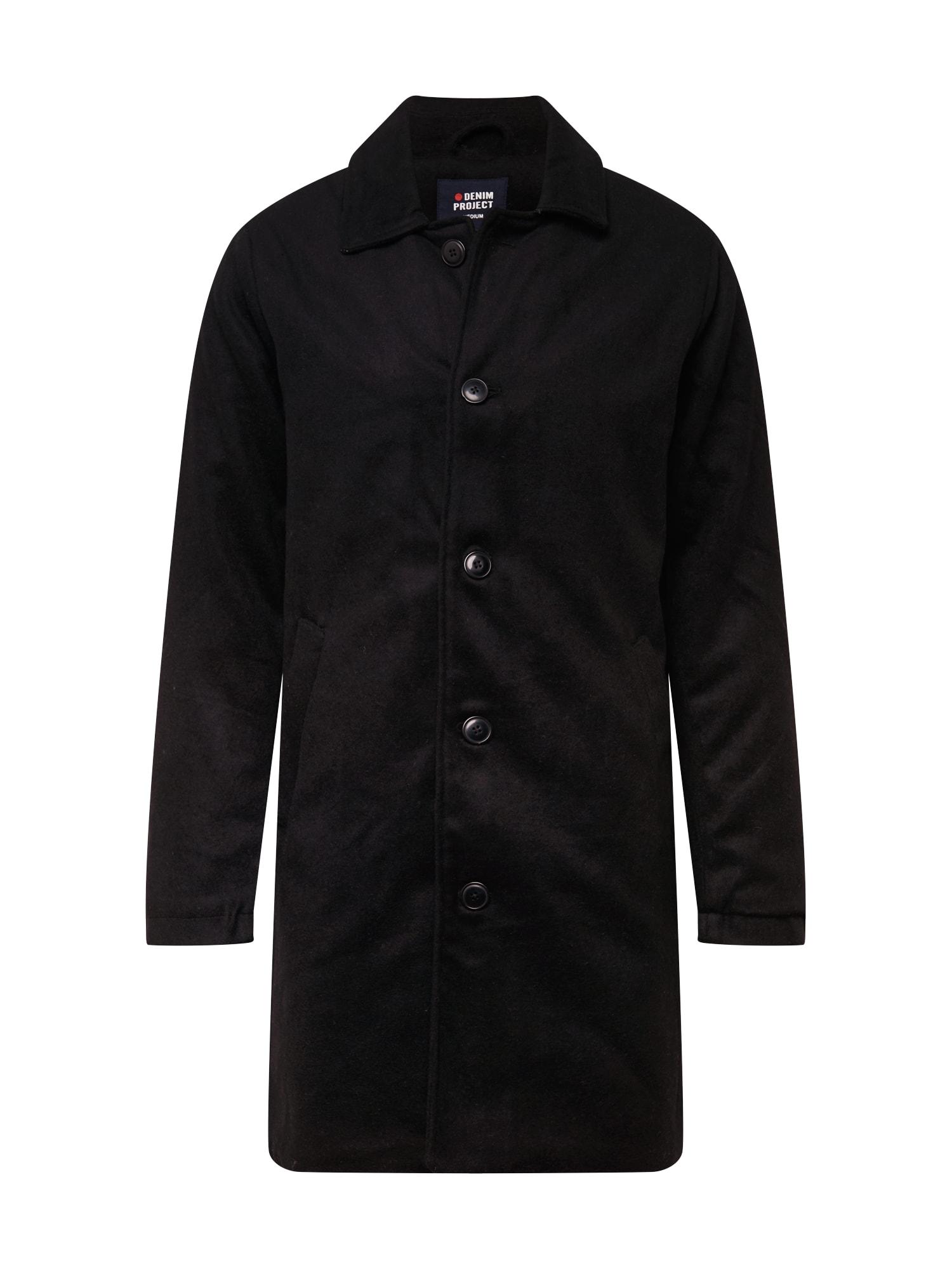 Denim Project Přechodný kabát  černá