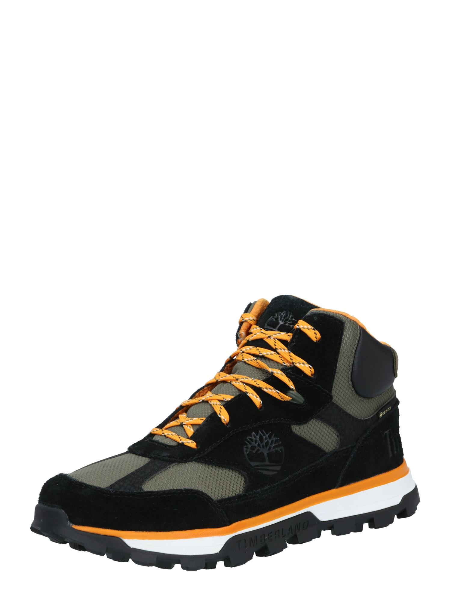 TIMBERLAND Tenisky 'Trail Trekker'  černá / oranžová / kouřově šedá
