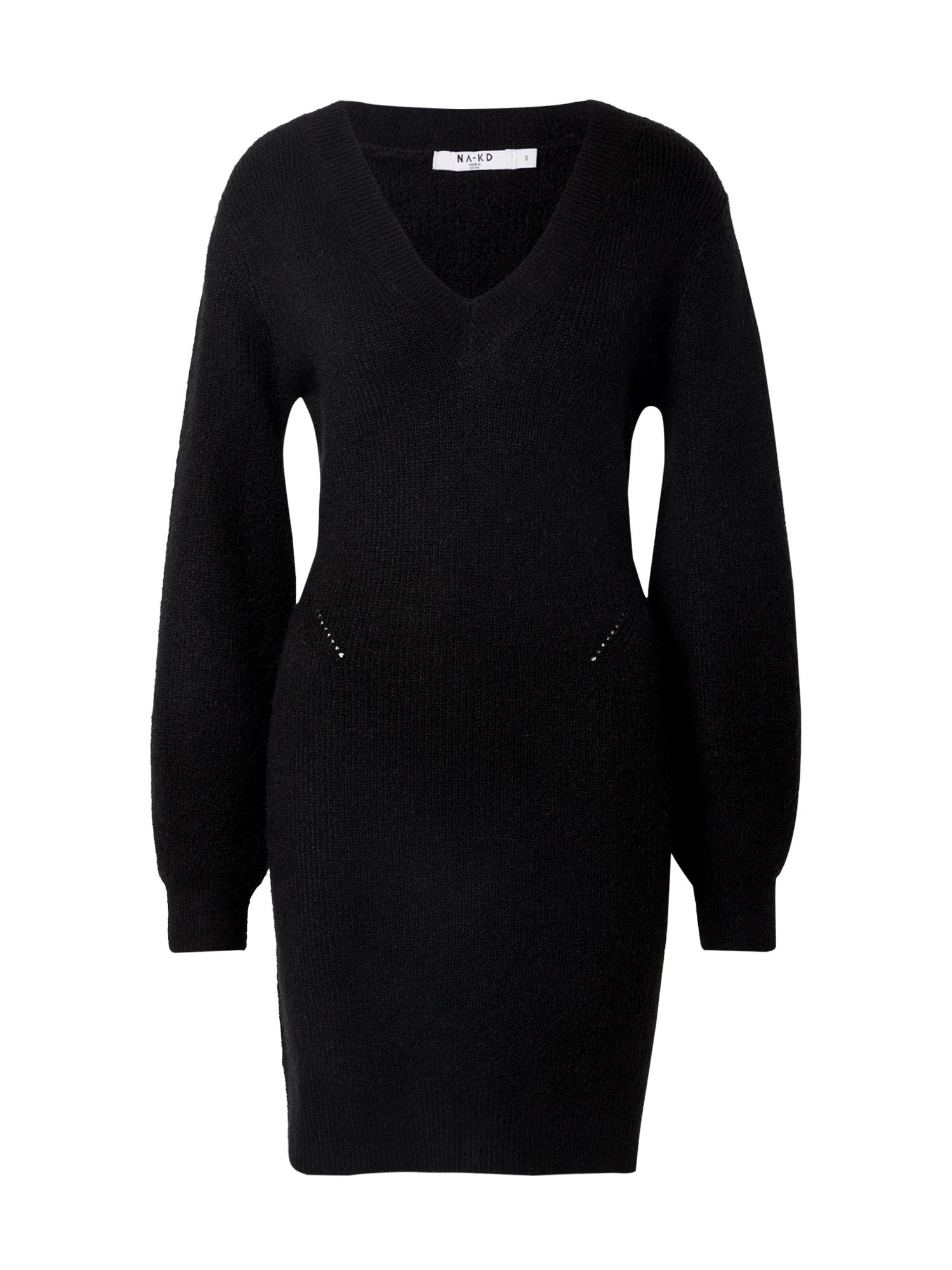 NA-KD Megzta suknelė juoda