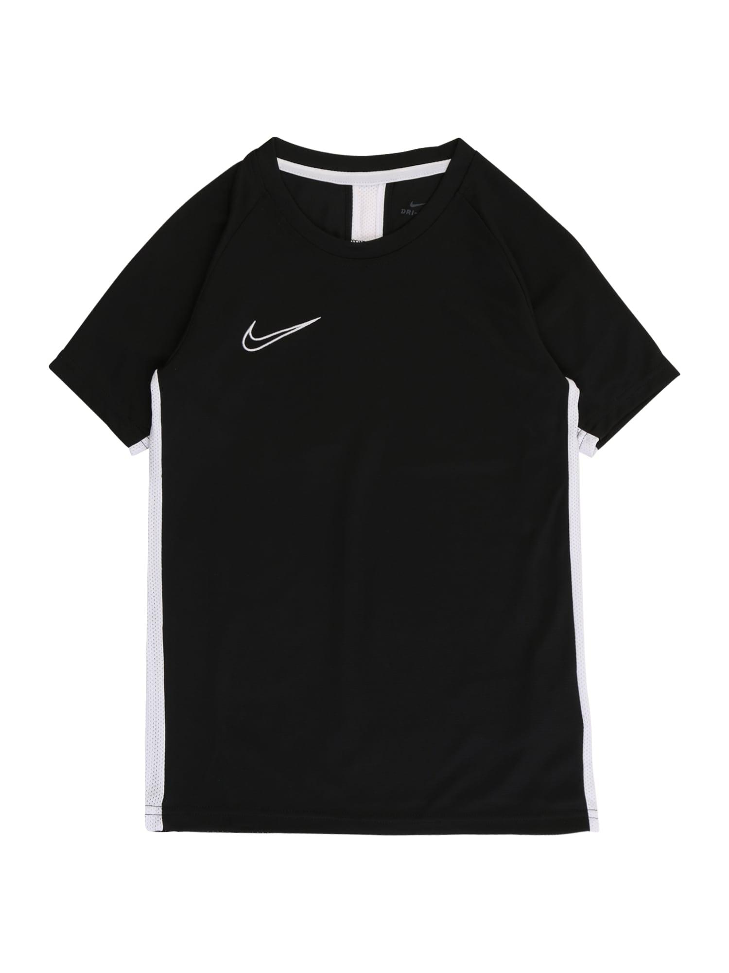NIKE Funkční tričko 'Academy'  černá / bílá