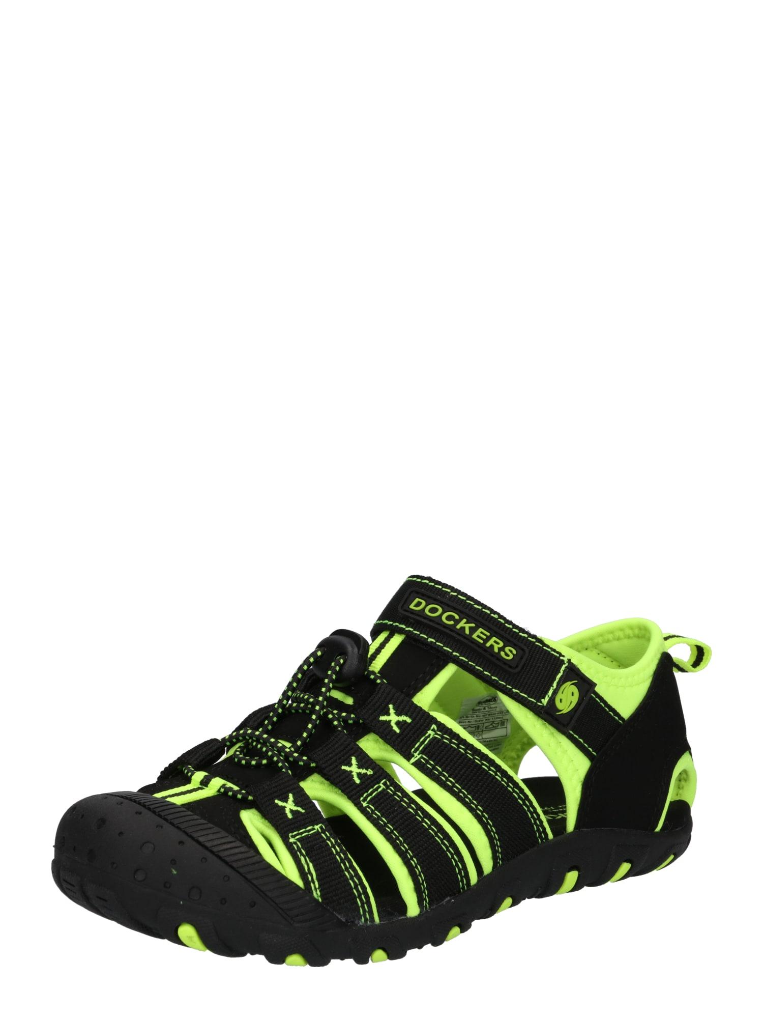 Dockers by Gerli Atviri batai juoda / geltona