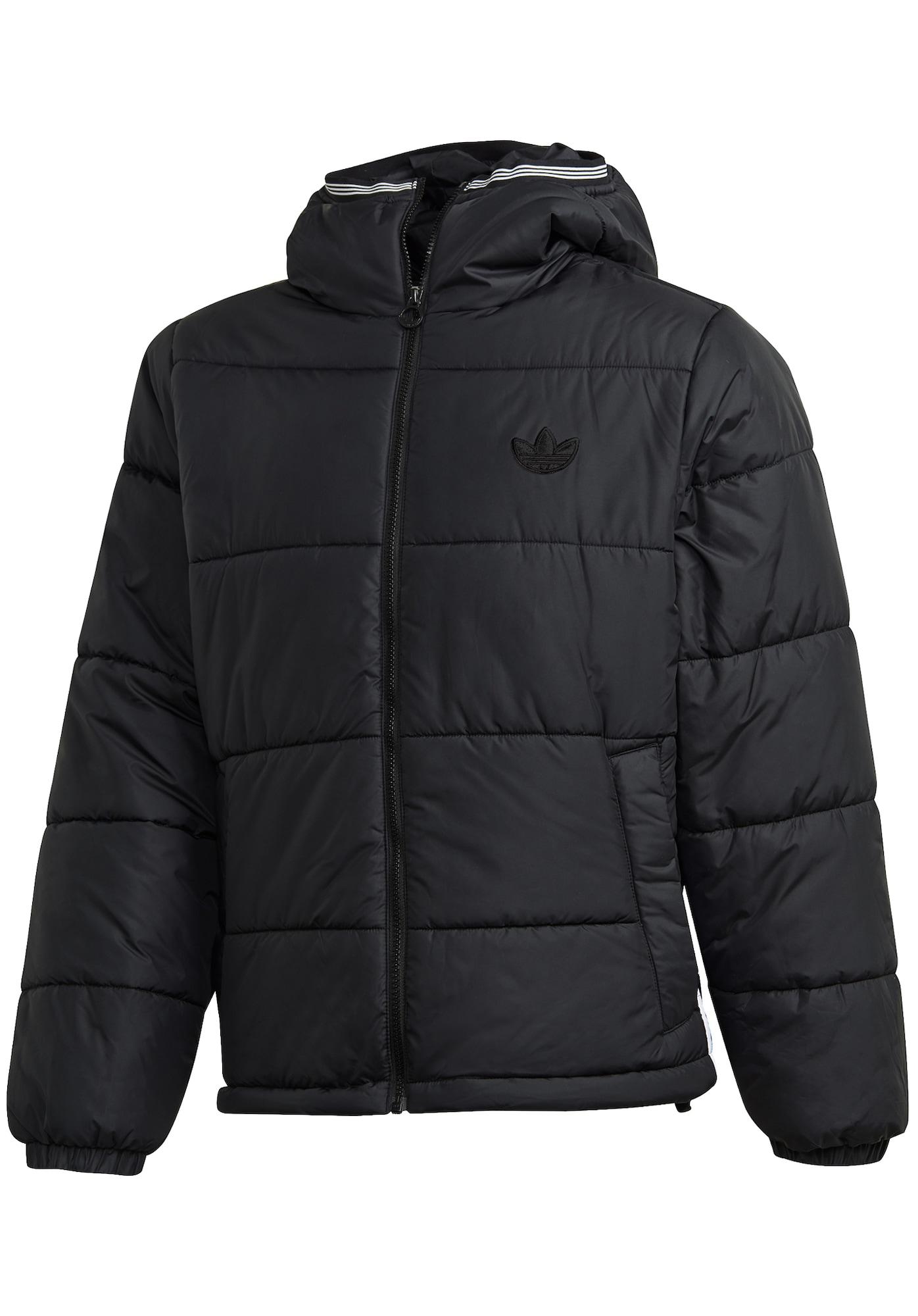 ADIDAS ORIGINALS Žieminė striukė juoda / balta