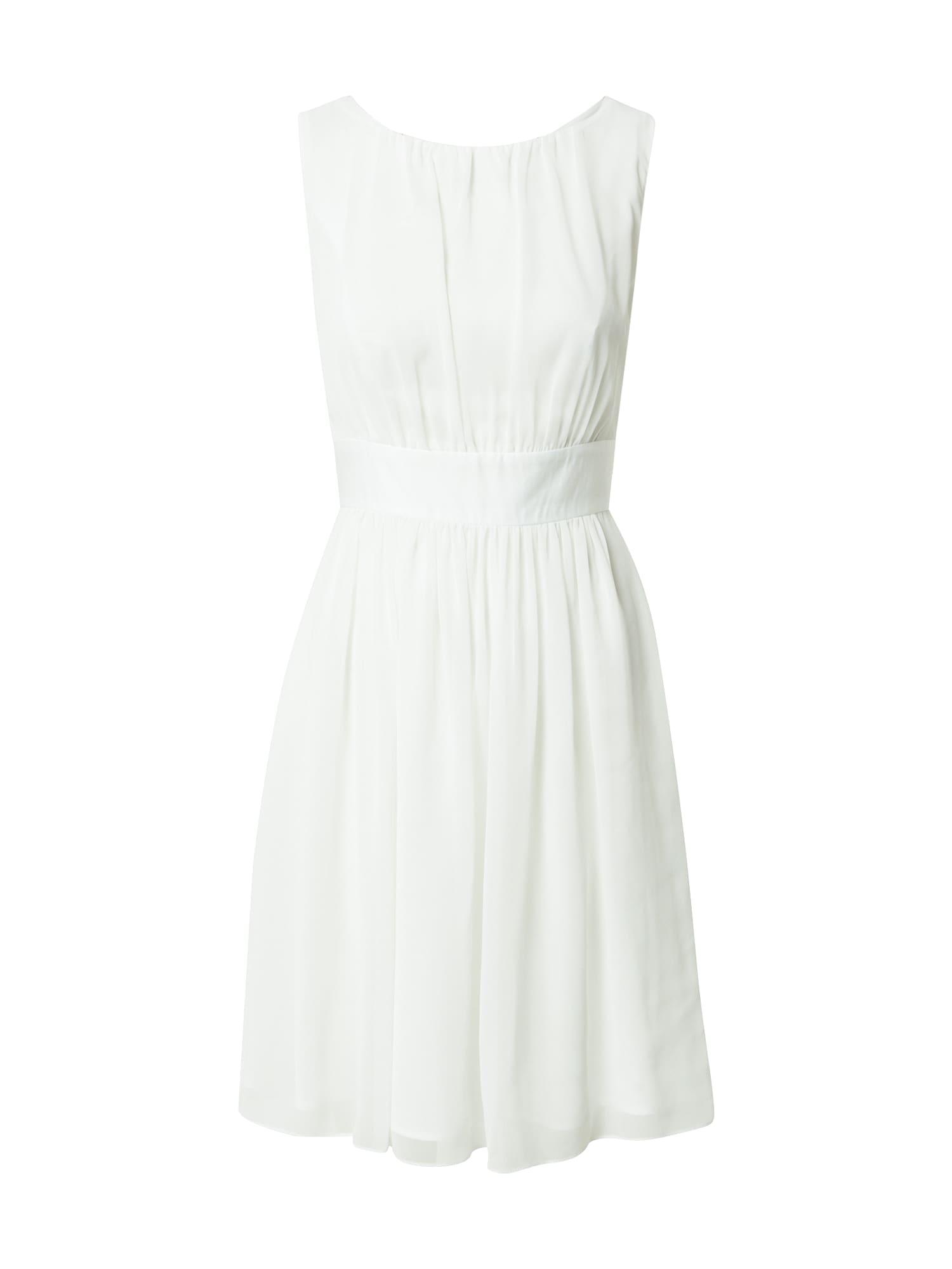 SWING Kokteilinė suknelė balkšva