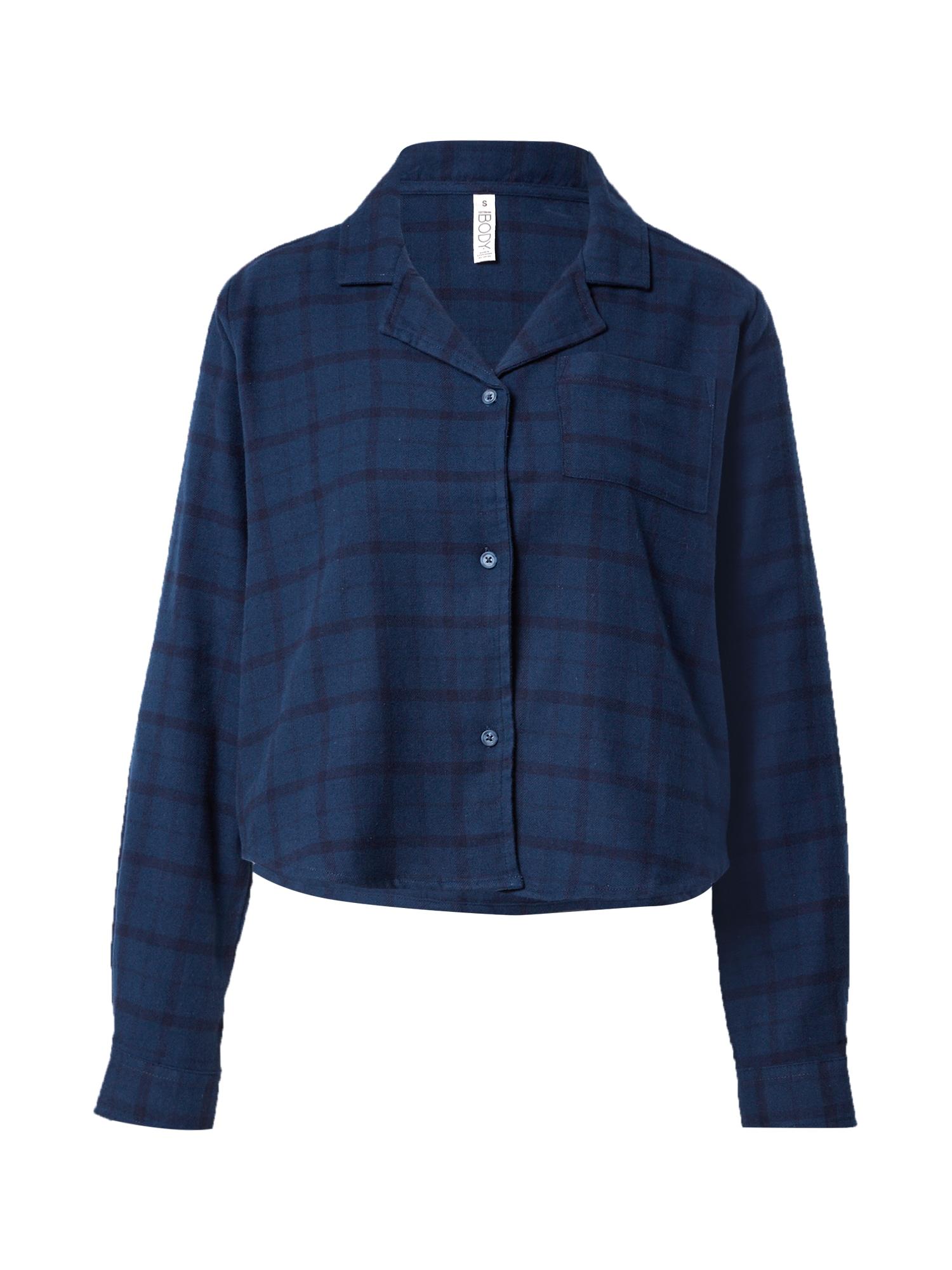 Cotton On Pižaminiai marškinėliai mėlyna / tamsiai mėlyna jūros spalva