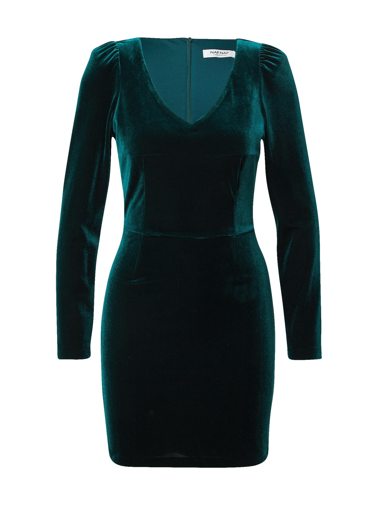 NAF NAF Suknelė smaragdinė spalva
