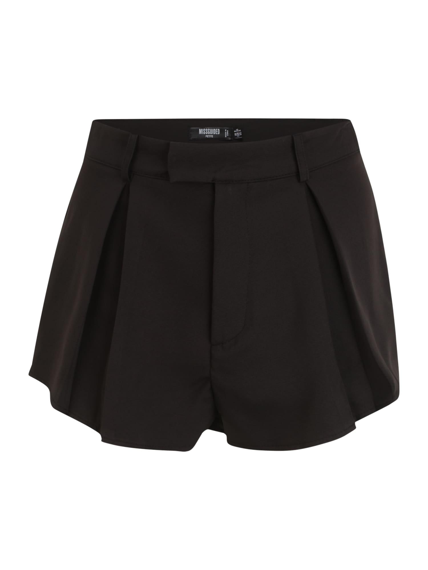 Missguided Petite Klostuotos kelnės juoda