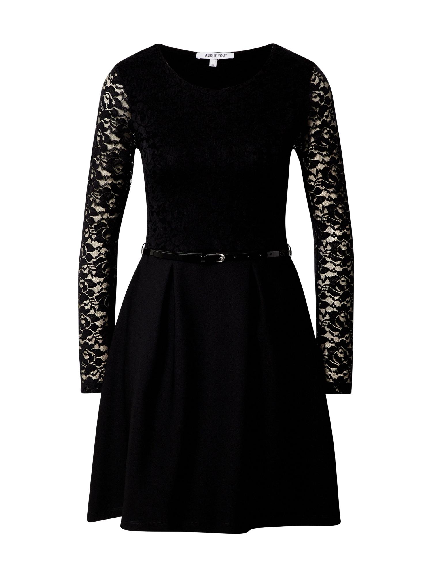 ABOUT YOU Koktejlové šaty 'Carmen'  černá