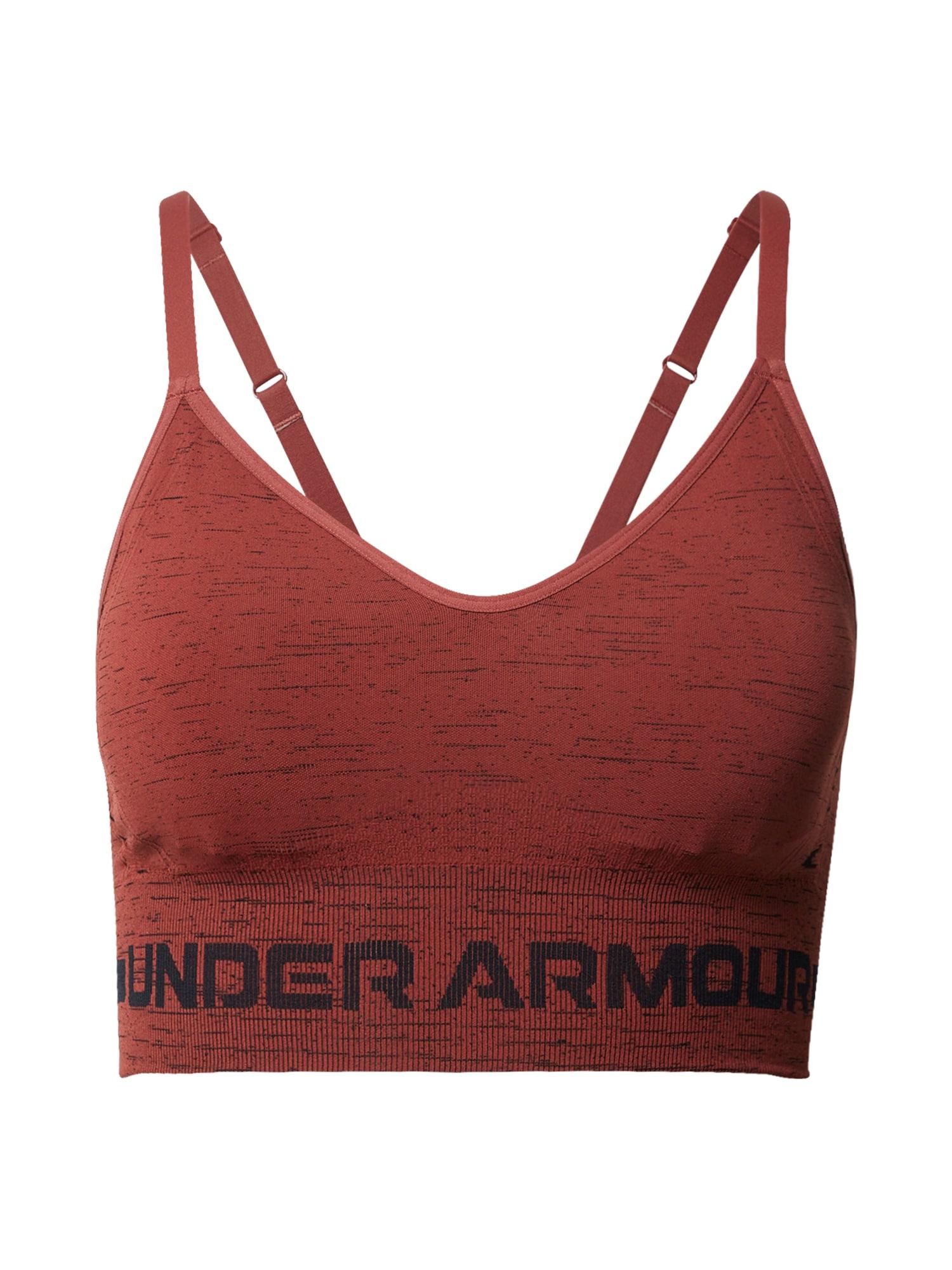 UNDER ARMOUR Sportinė liemenėlė raudona / juoda