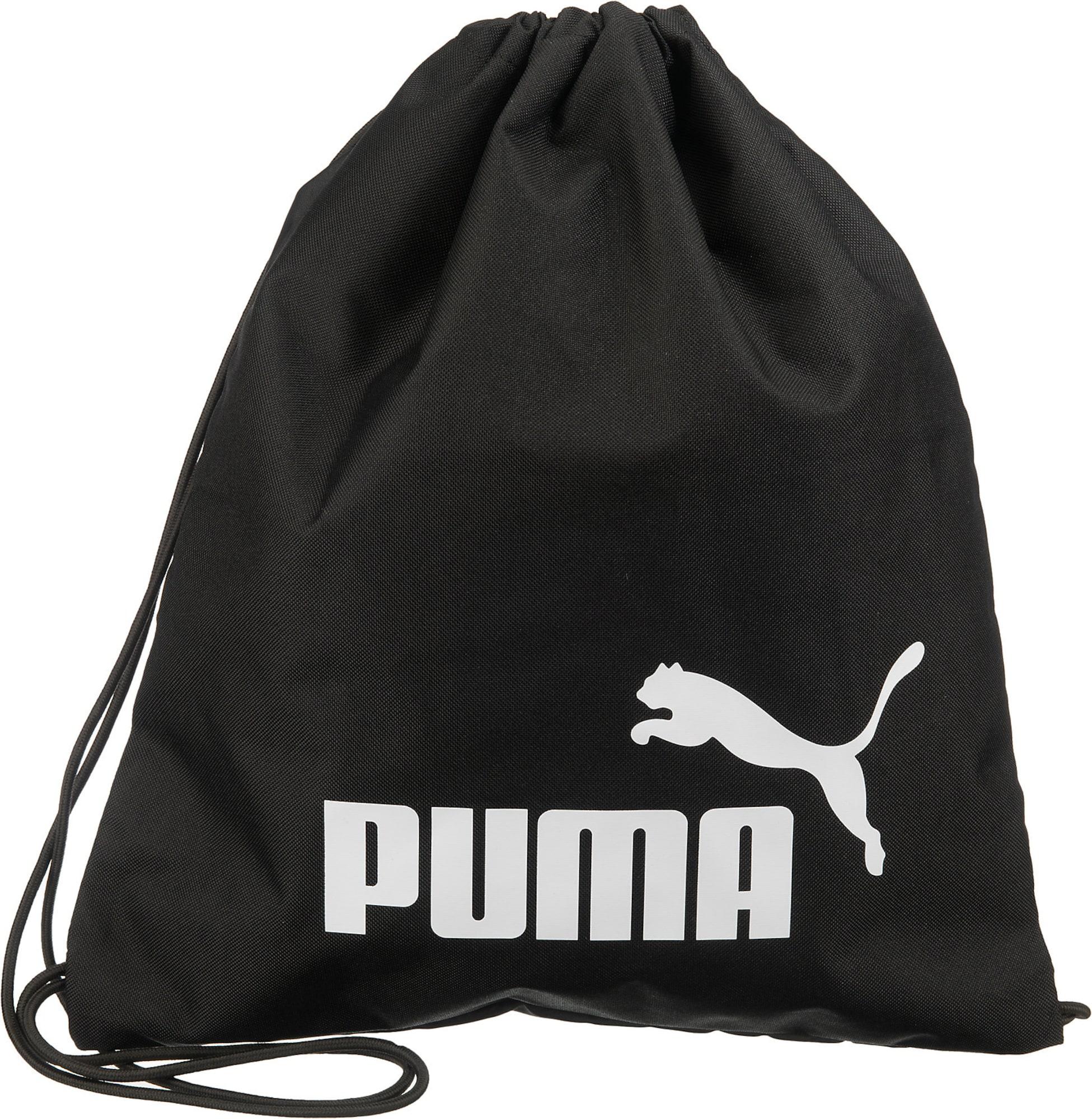 PUMA Sportovní vak 'Phase'  černá / bílá
