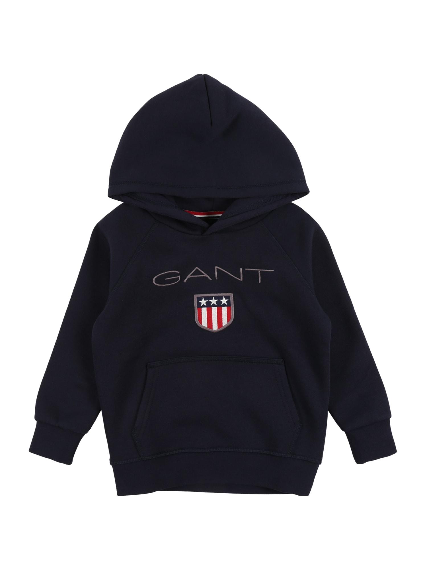 GANT Megztinis be užsegimo tamsiai mėlyna / raudona / balta / pilka