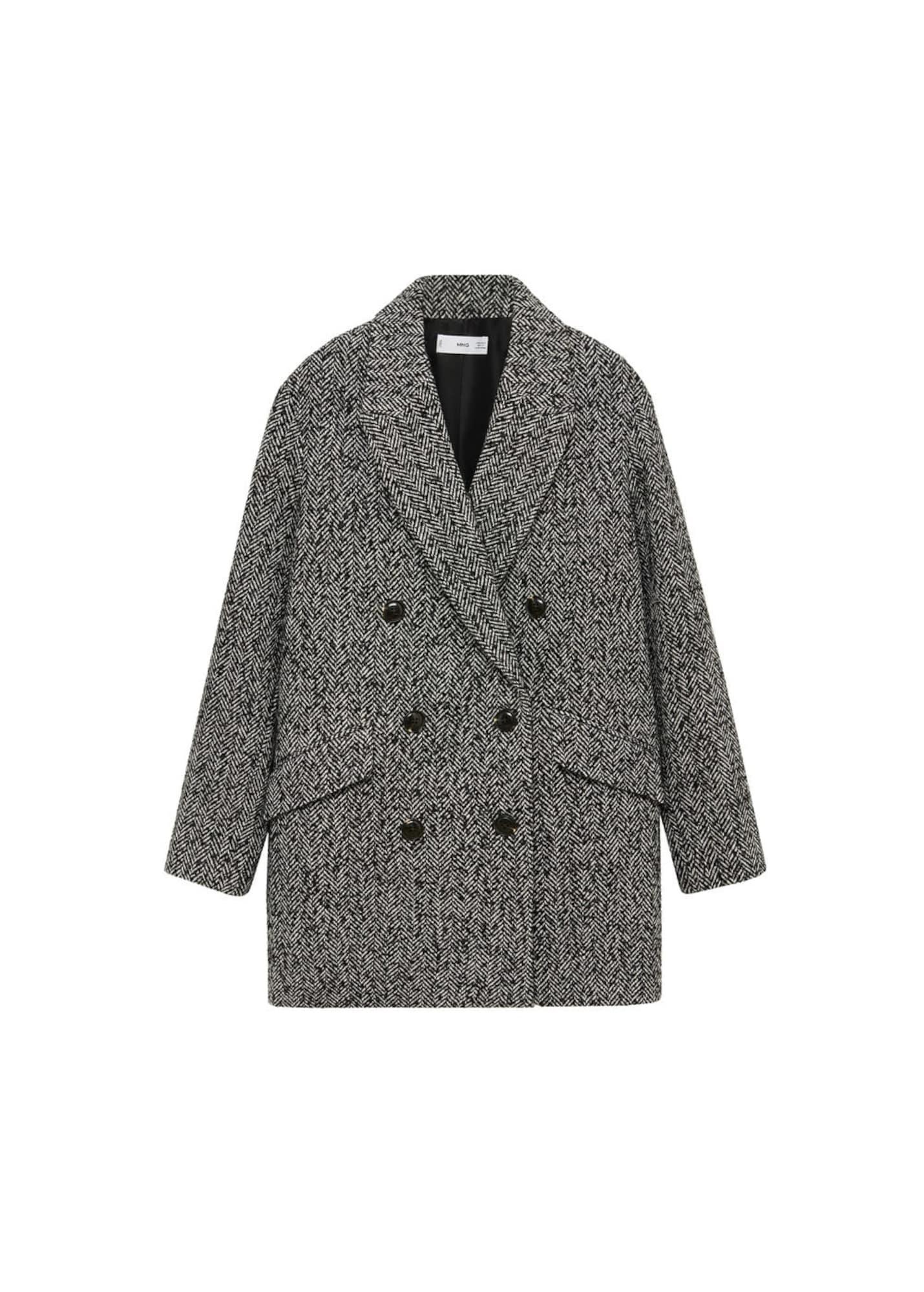 MANGO Přechodný kabát 'Darwin'  černá / šedá