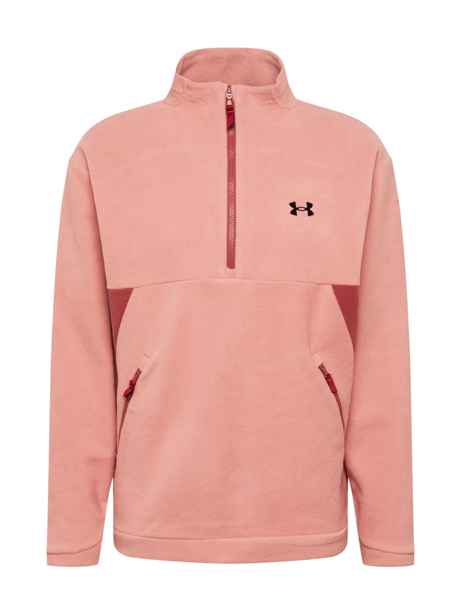 UNDER ARMOUR Funkcinis flisinis džemperis ryškiai rožinė spalva / vyno raudona spalva / juoda