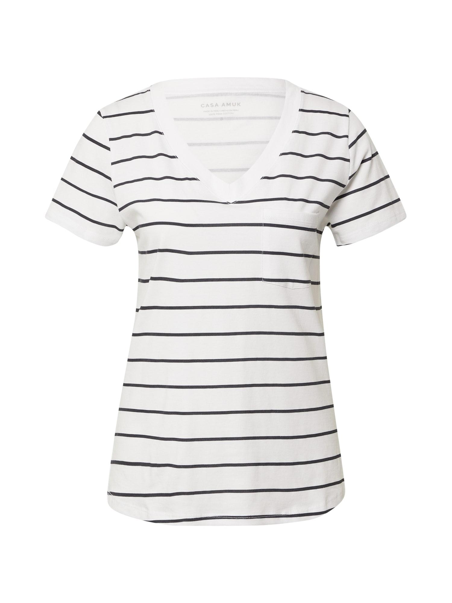 CASA AMUK Marškinėliai balta / juoda
