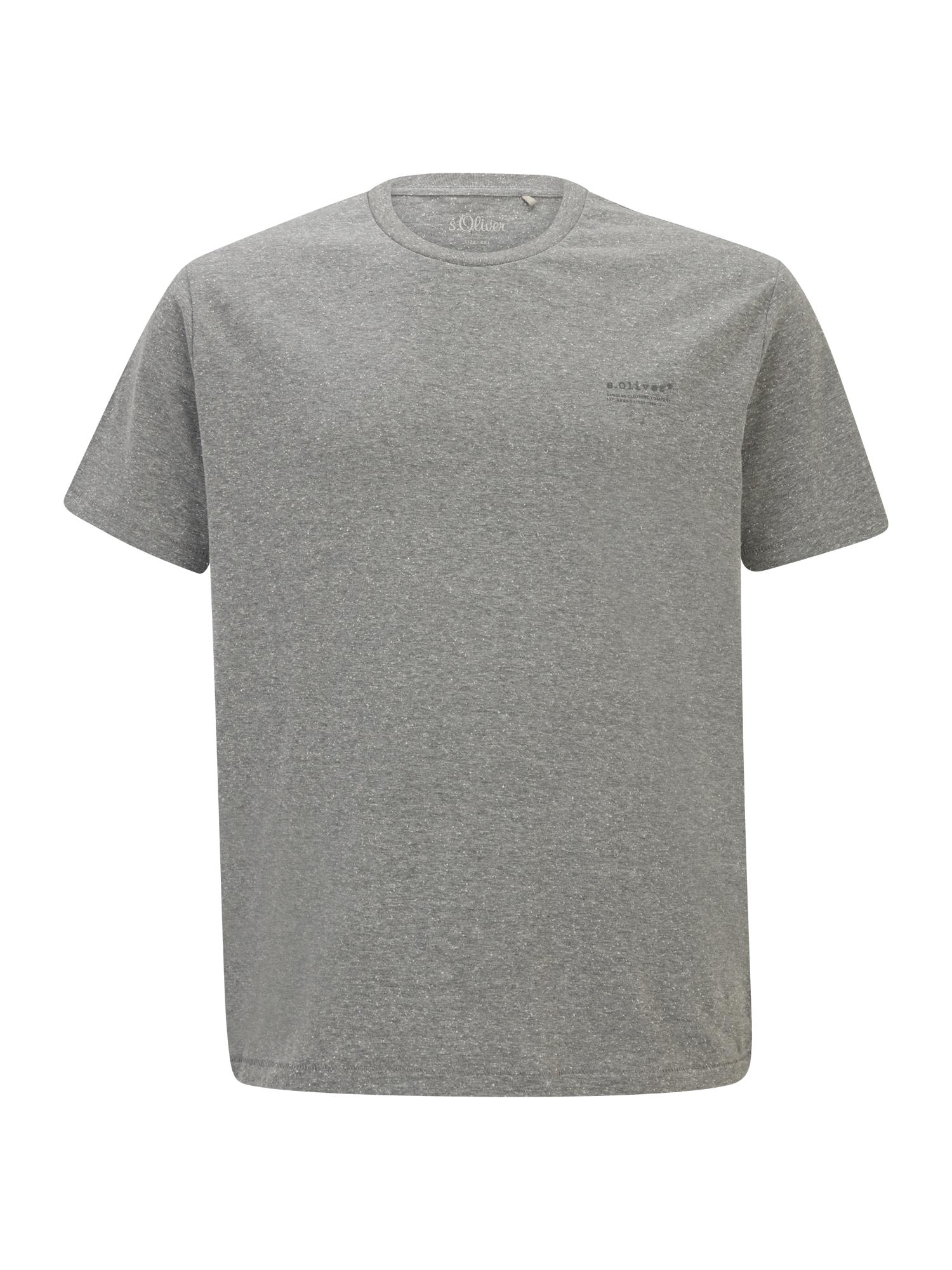 s.Oliver Red Label Big & Tall Marškinėliai pilka / margai pilka