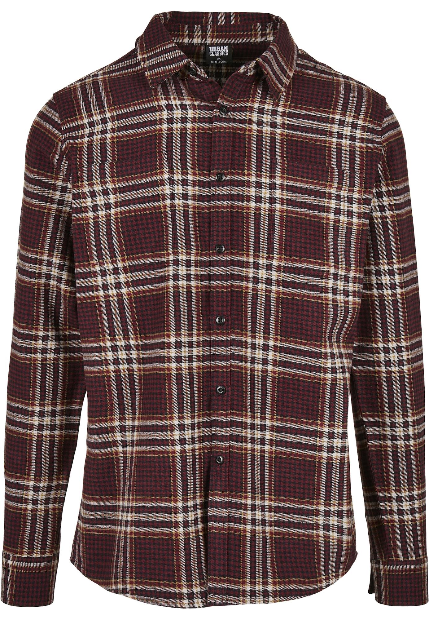 Urban Classics Marškiniai šviesiai ruda / tamsiai ruda
