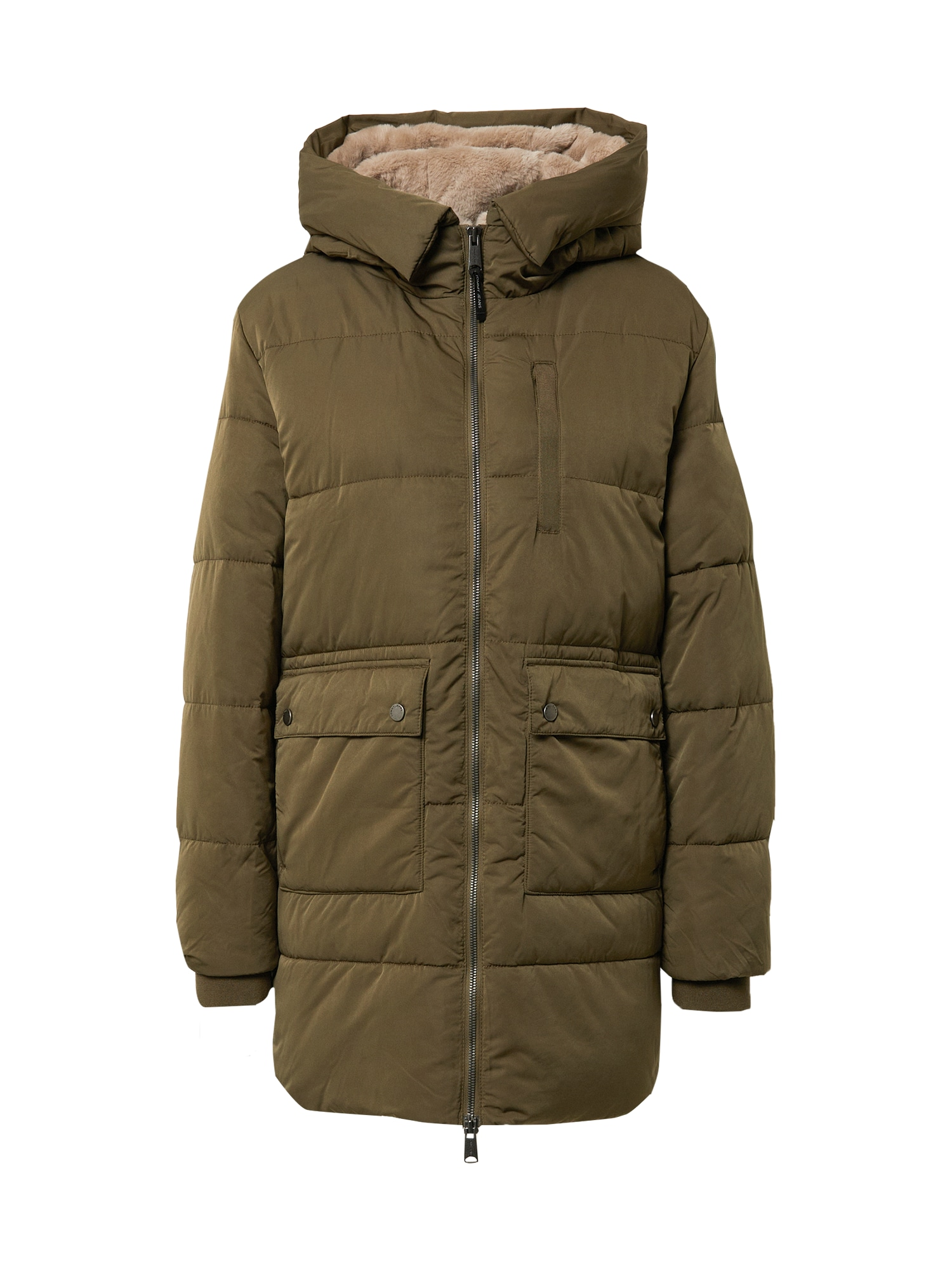 Tommy Jeans Zimní kabát  khaki