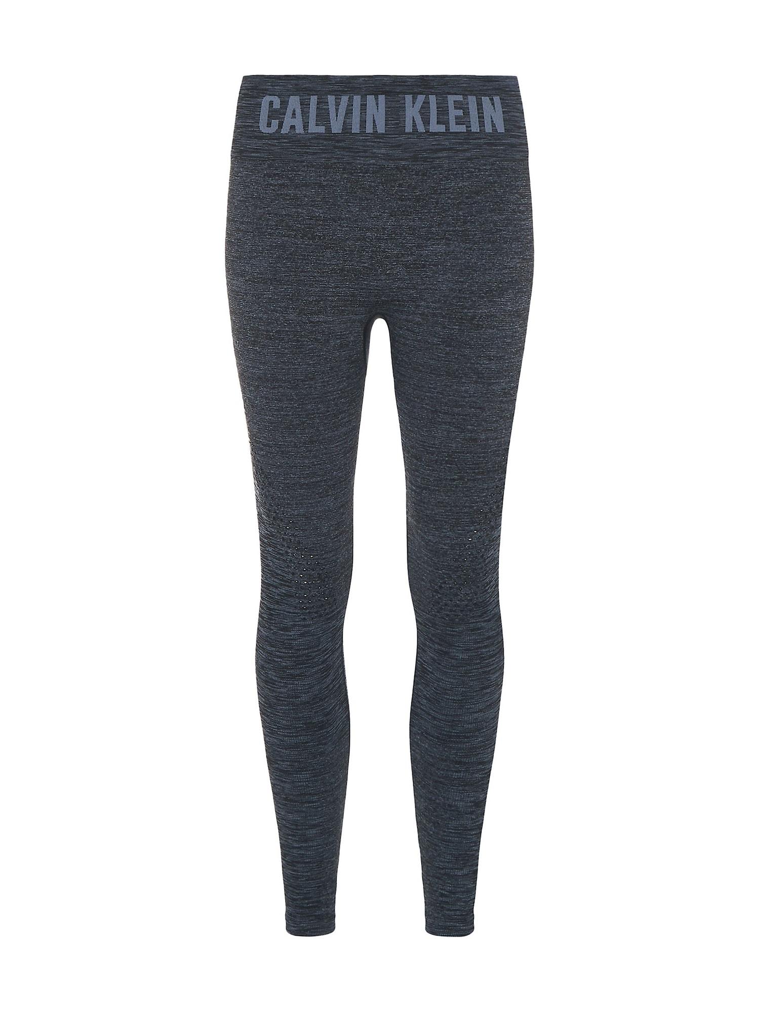 Calvin Klein Performance Sportinės kelnės juoda / margai pilka