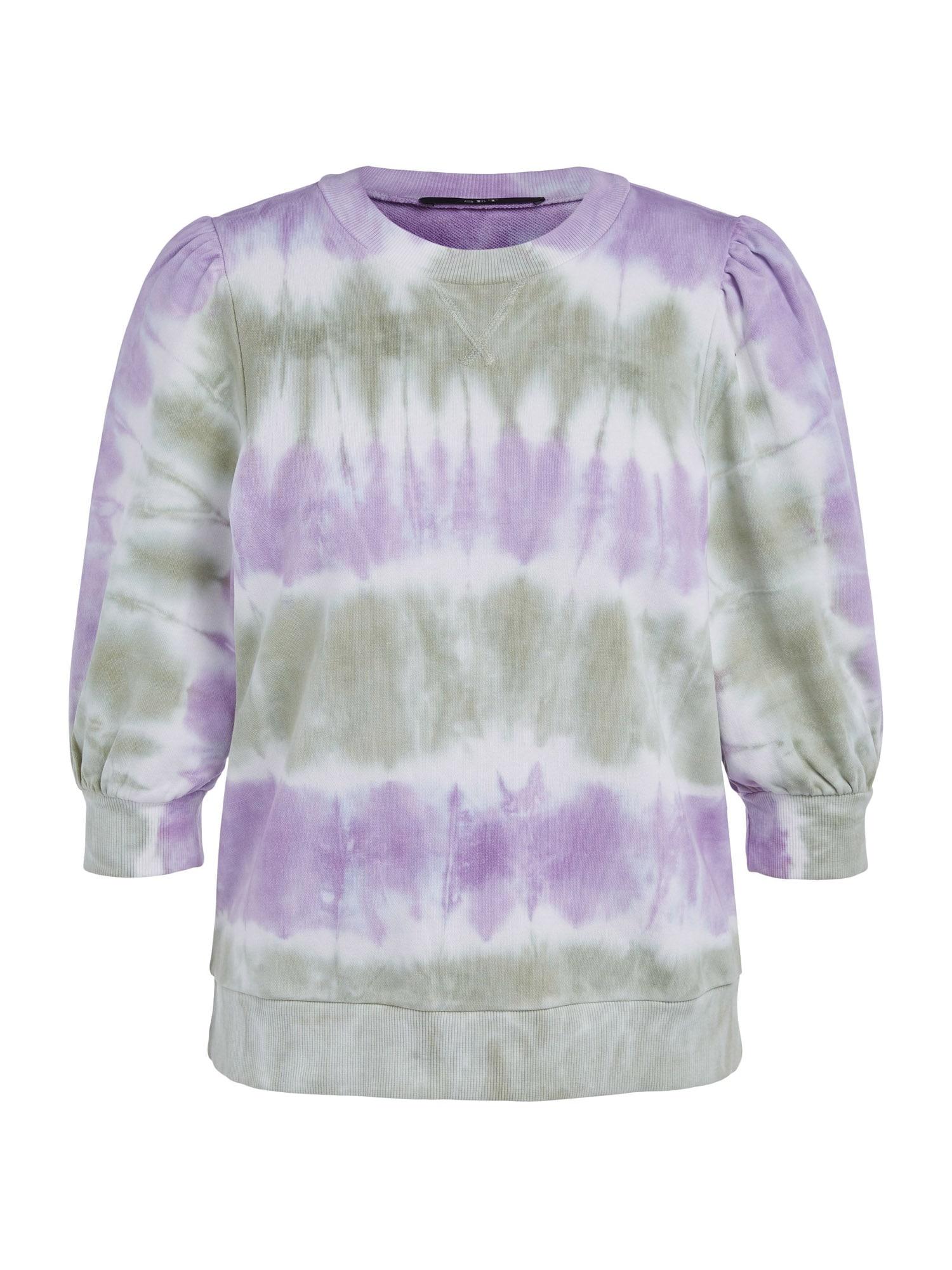 SET Megztinis be užsegimo purpurinė / balta / pastelinė žalia
