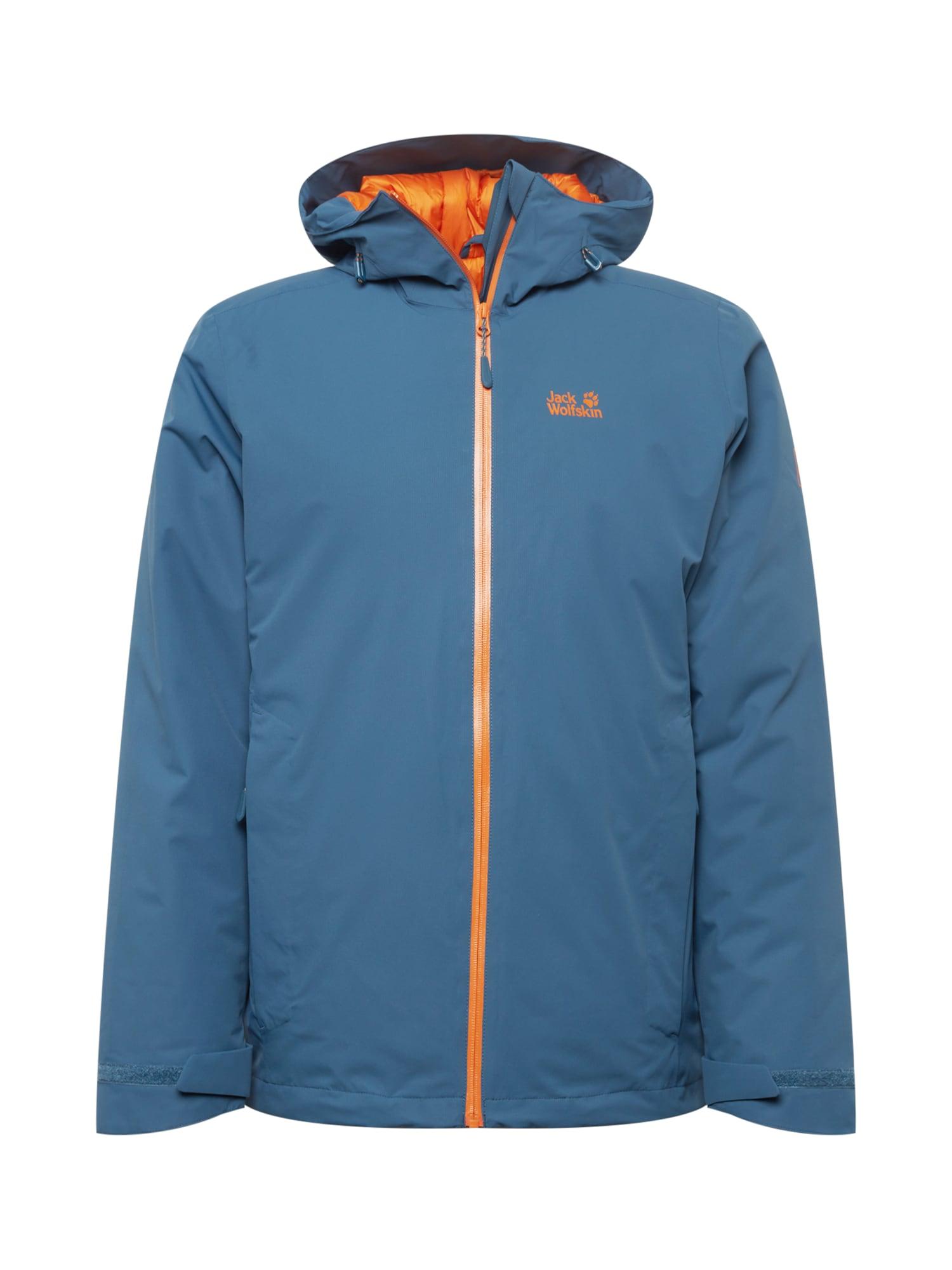 JACK WOLFSKIN Sportovní bunda 'ARGON'  modrá / oranžová