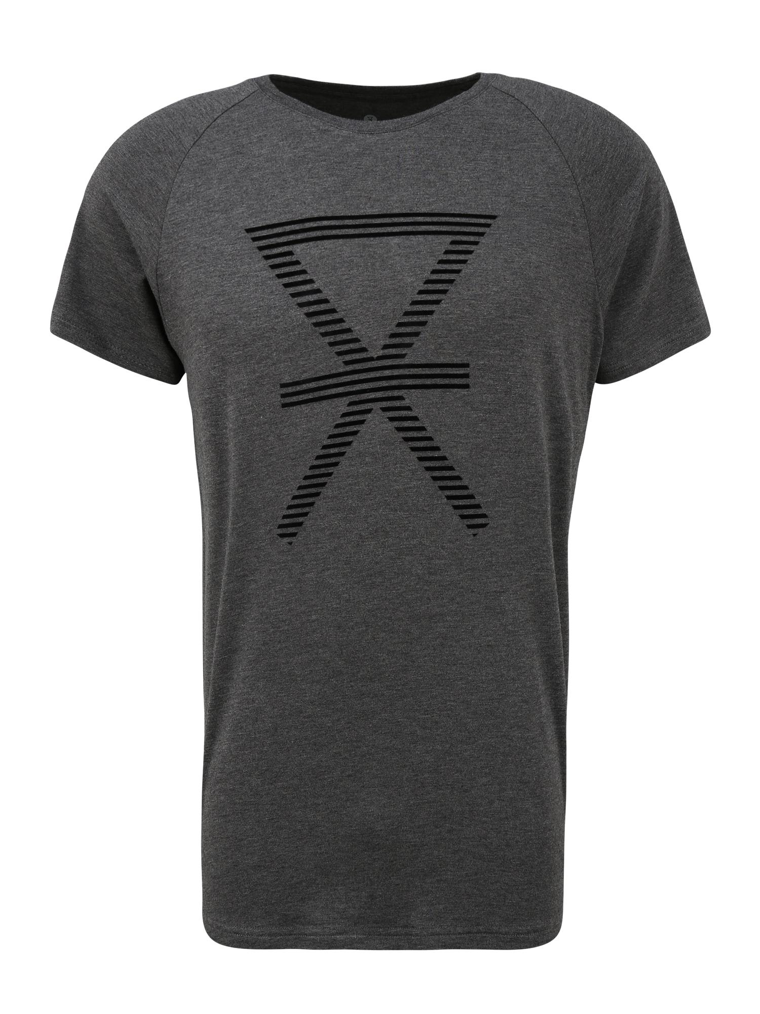 JBS OF DENMARK Marškinėliai tamsiai pilka / juoda