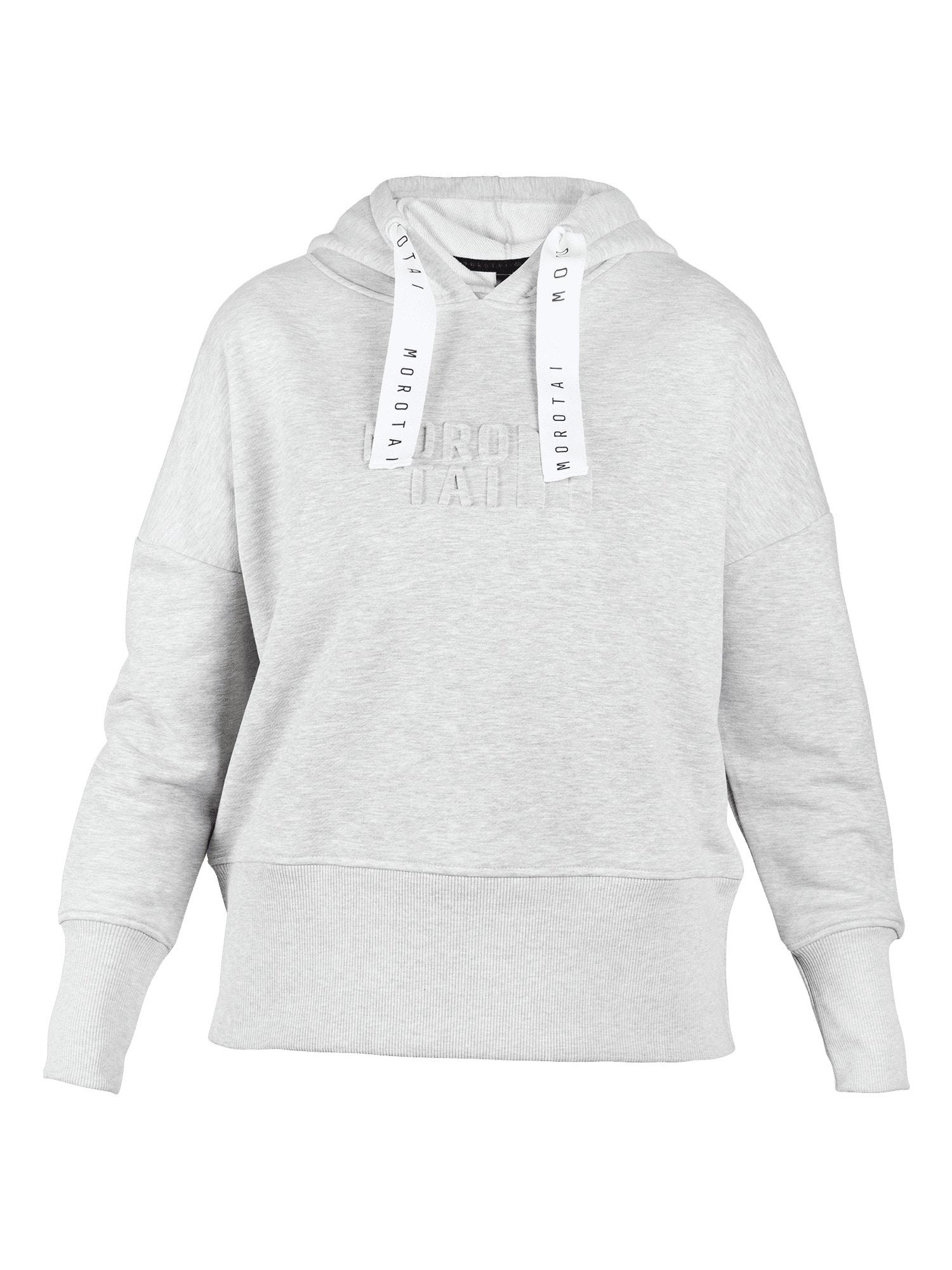 MOROTAI Sportinio tipo megztinis margai pilka