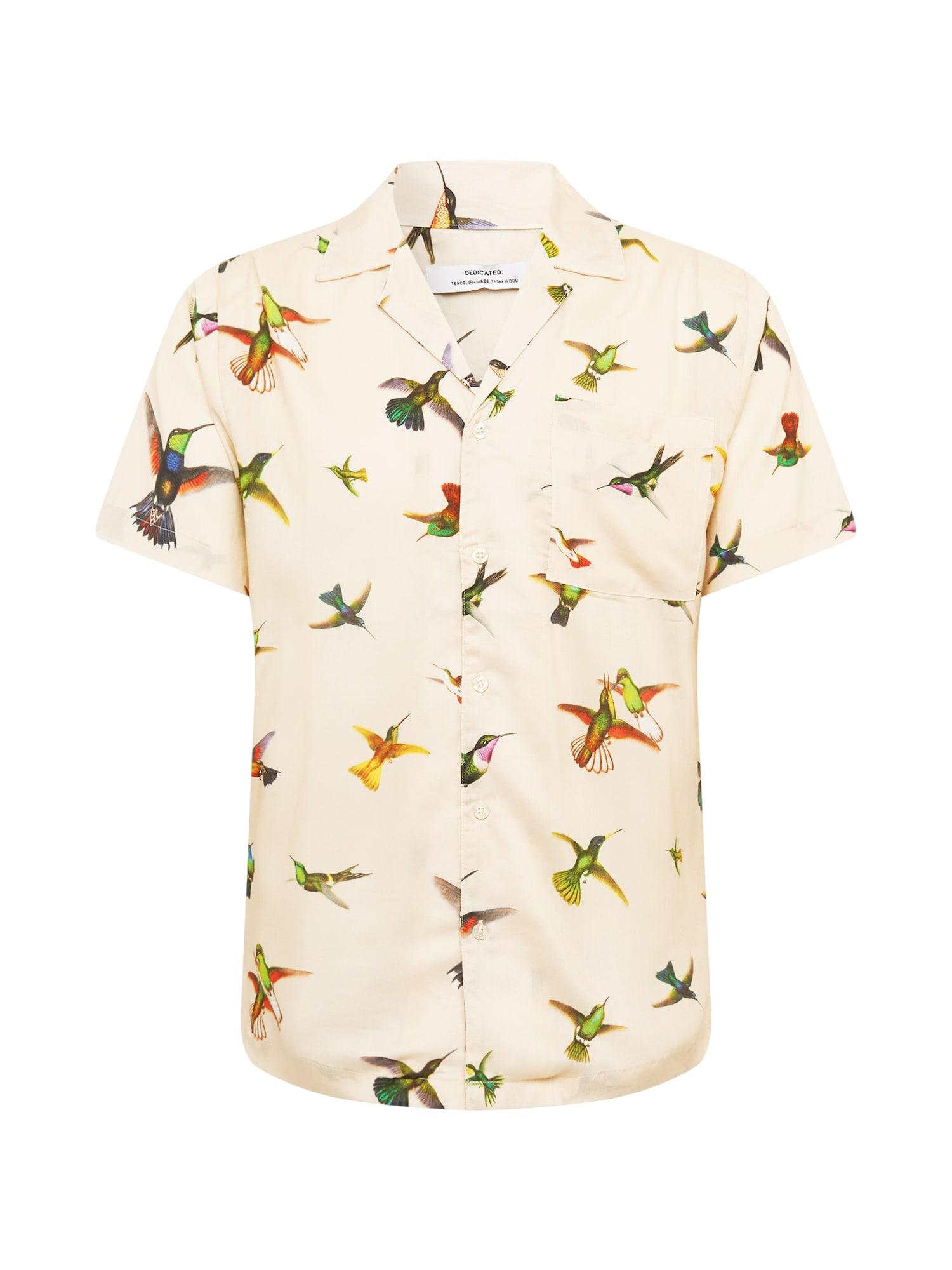 DEDICATED. Marškiniai mišrios spalvos / smėlio