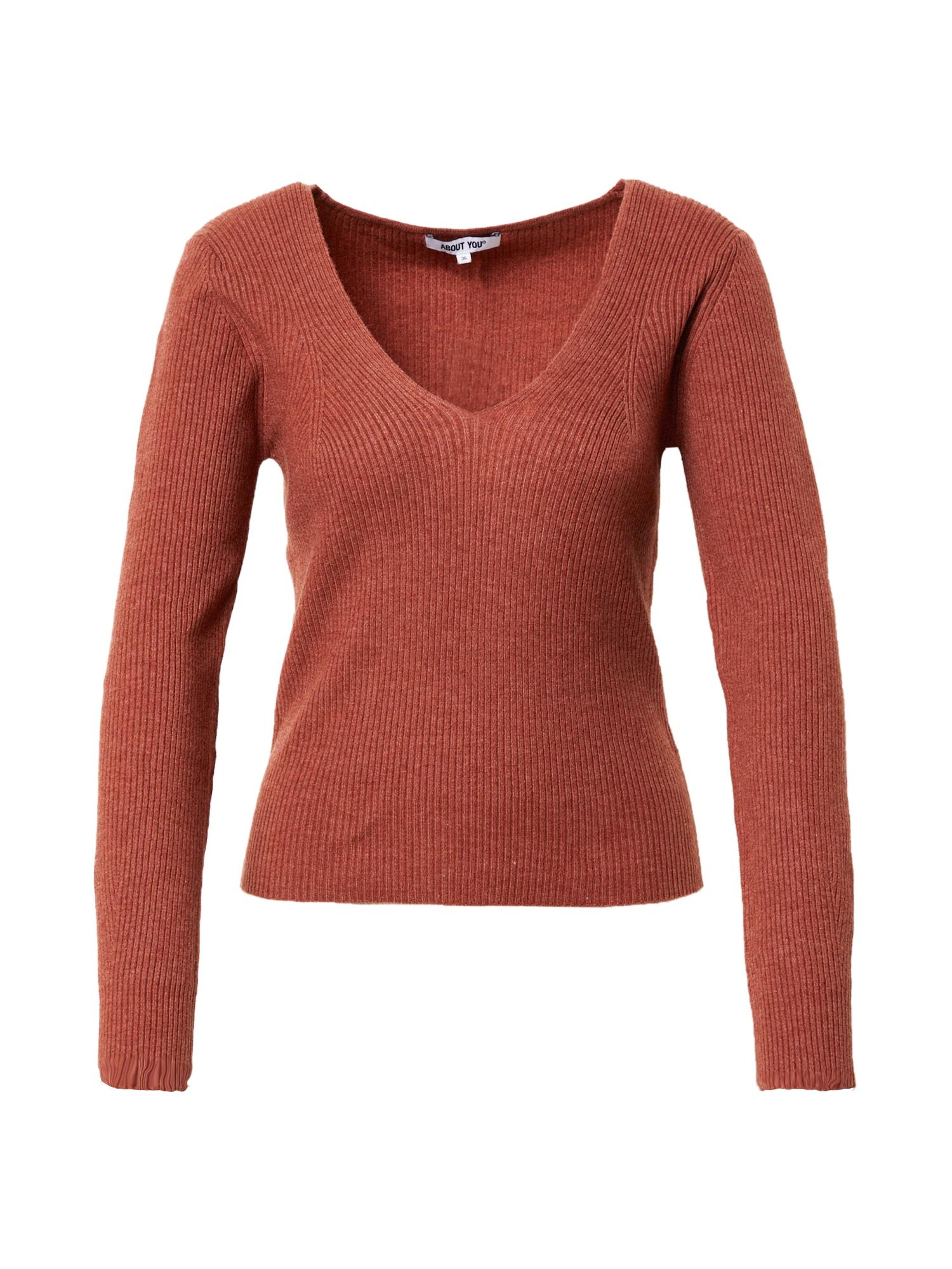ABOUT YOU Megztinis 'Orelia' rūdžių raudona