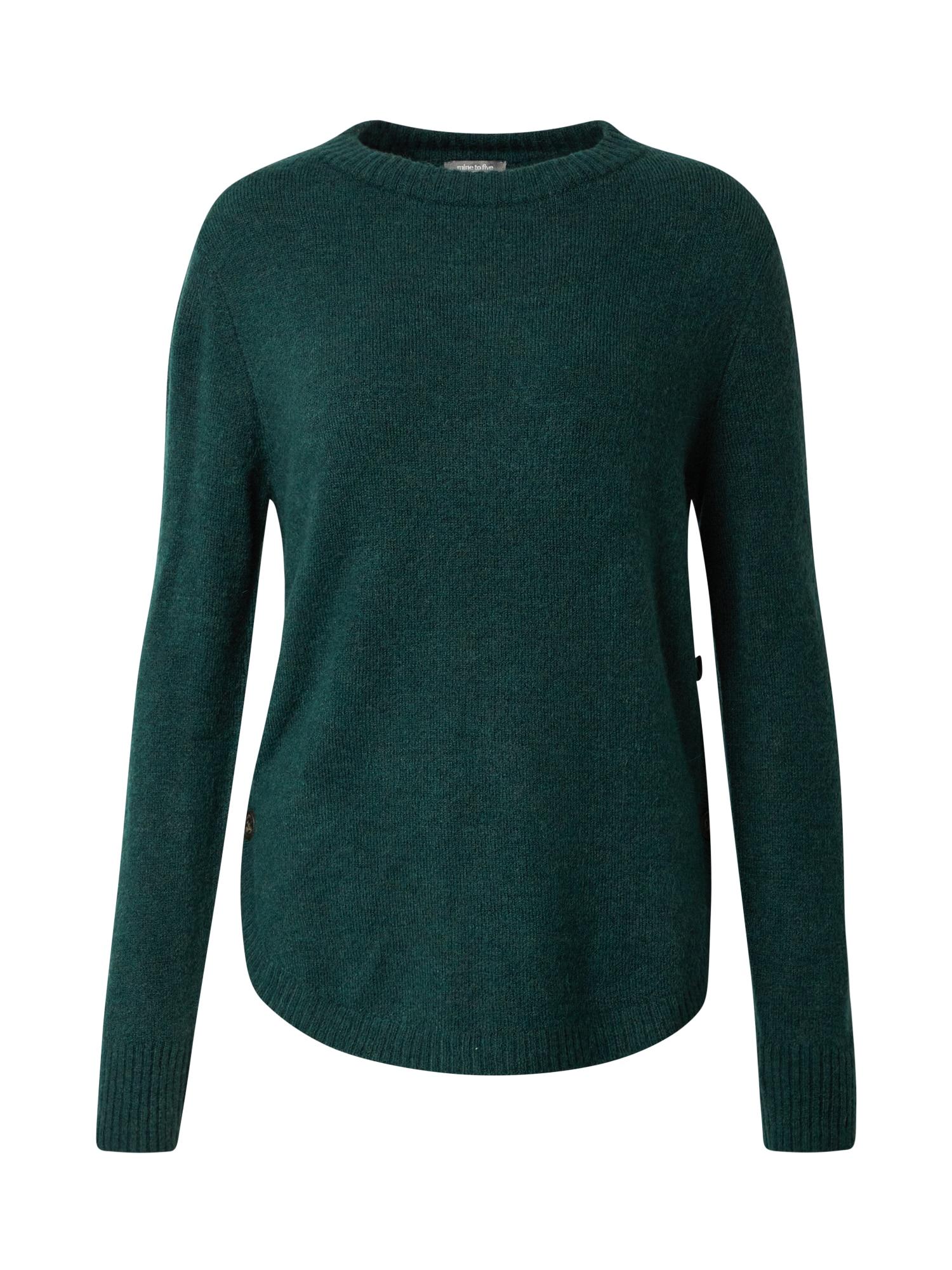 MINE TO FIVE Megztinis tamsiai žalia