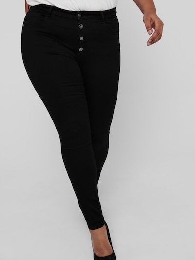 Only Carmakoma Augusta Highwaist-Skinny-Jeans mit Knopfleiste