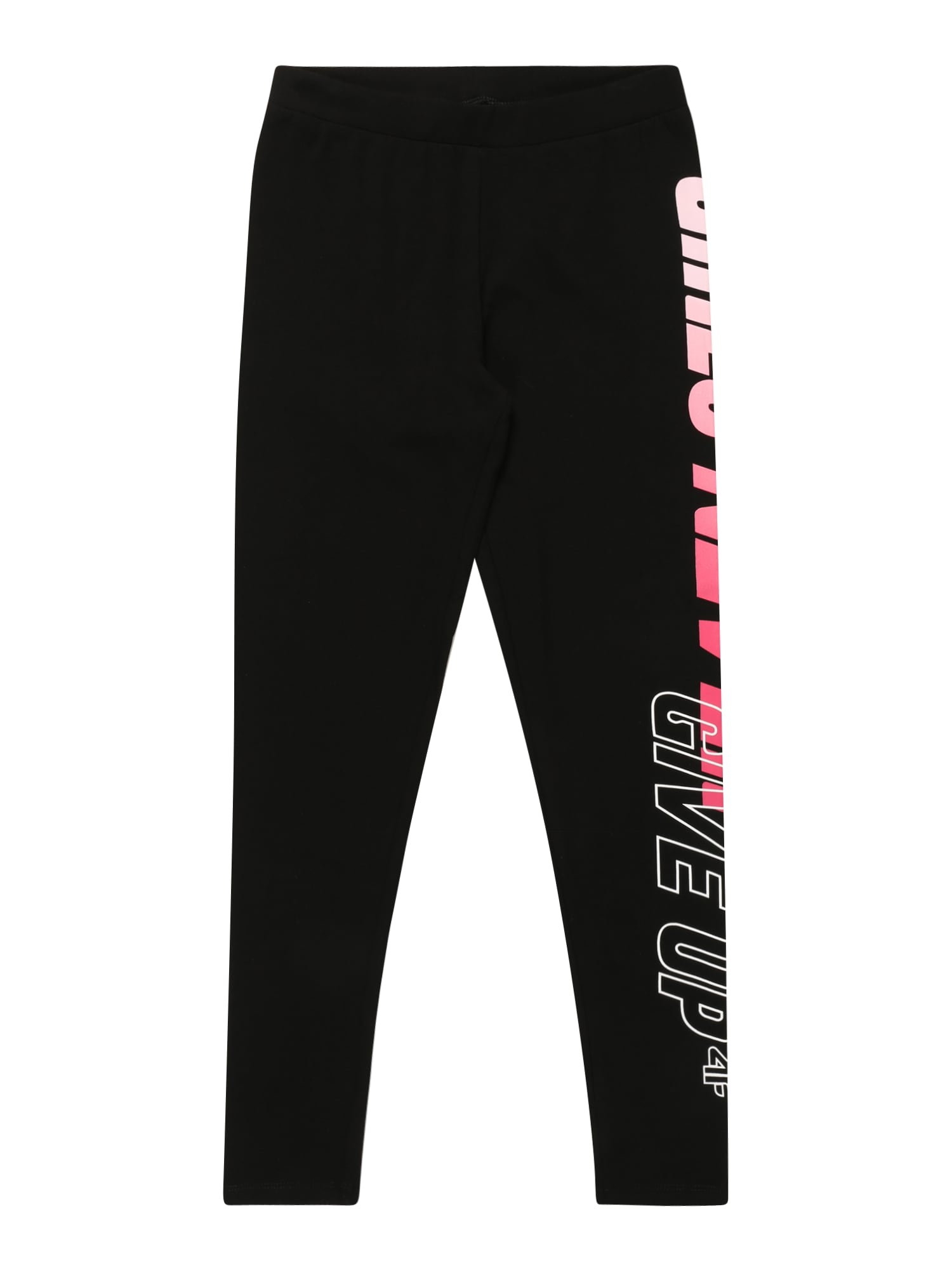 4F Sportinės kelnės juoda / balta / rožinė / rožių spalva