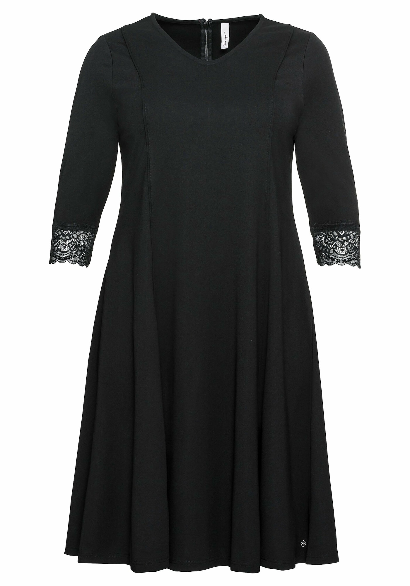 SHEEGO Trumpa kokteilinė suknelė juoda