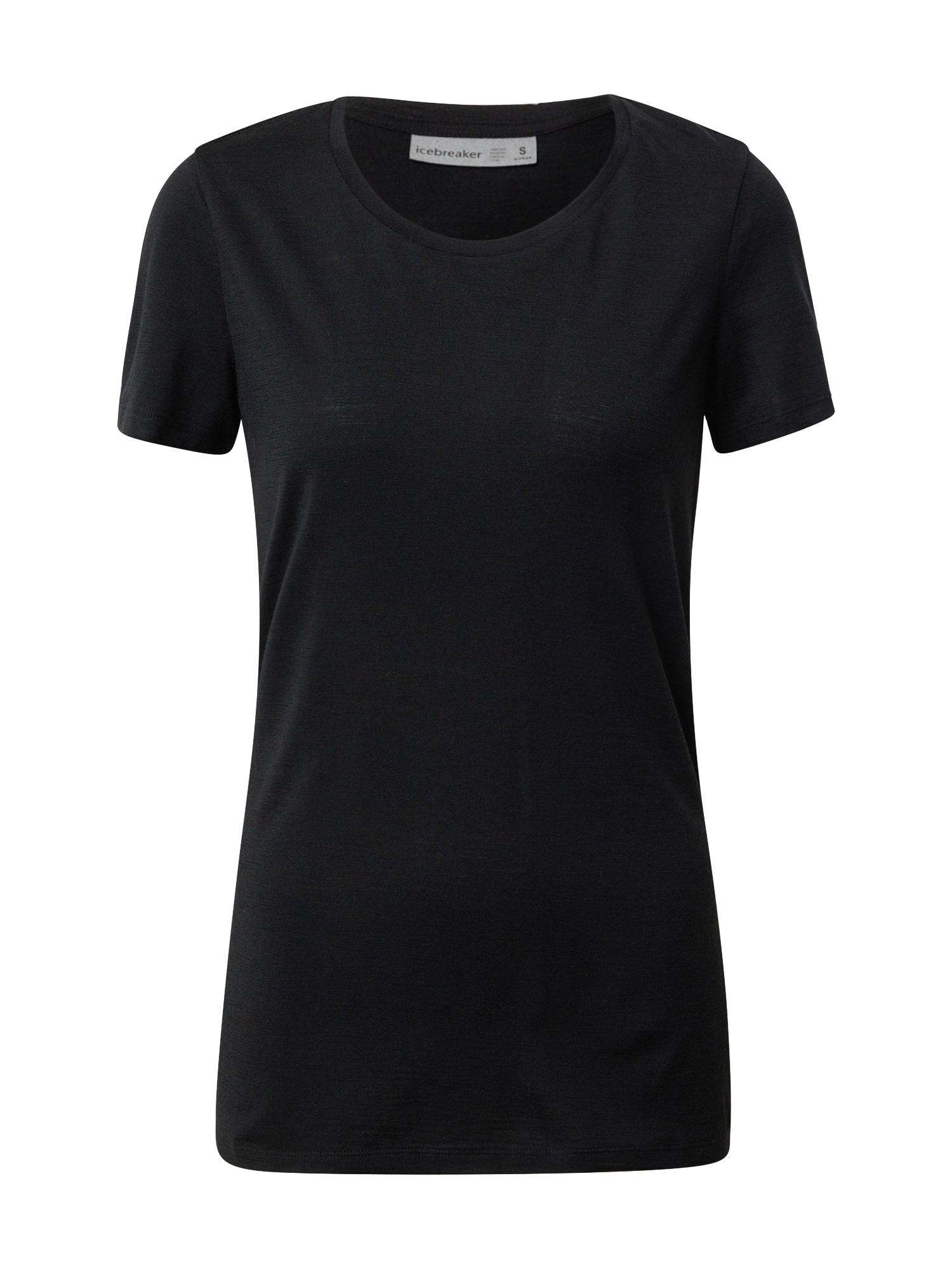 Icebreaker Sportiniai marškinėliai juoda