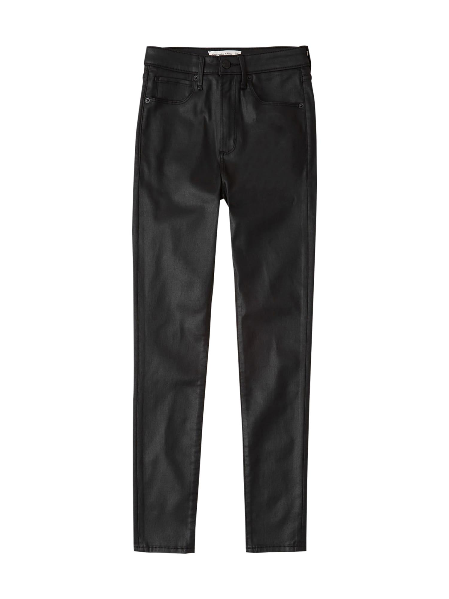 Abercrombie & Fitch Džinsai juodo džinso spalva