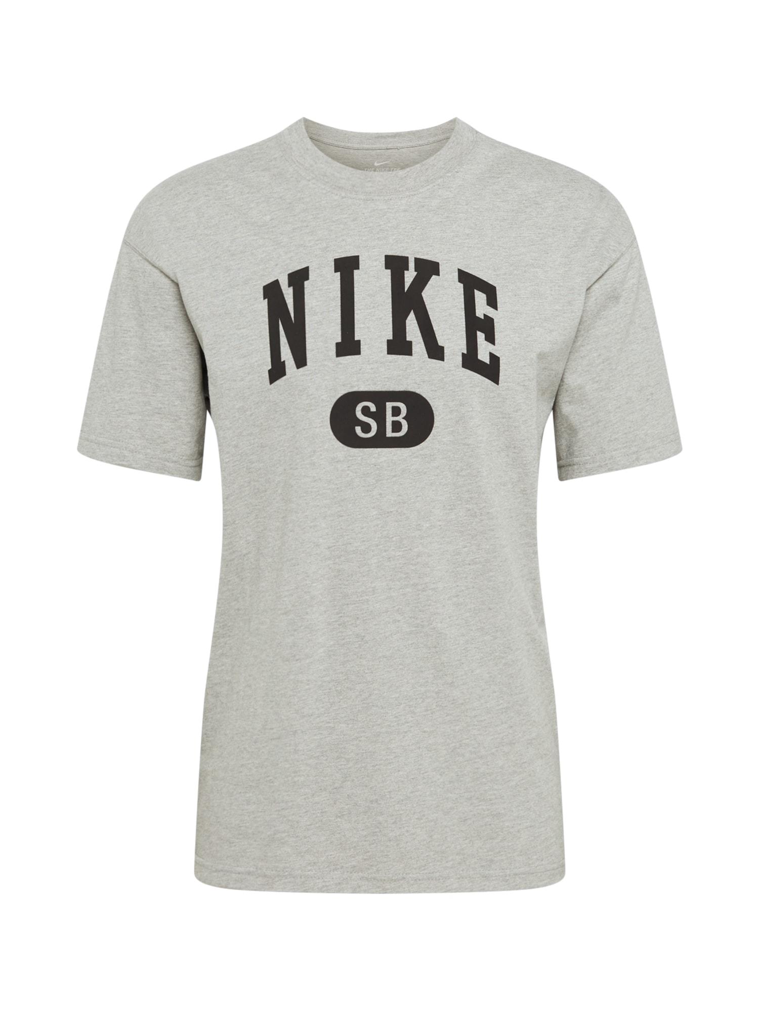 Nike SB Marškinėliai margai pilka / antracito spalva