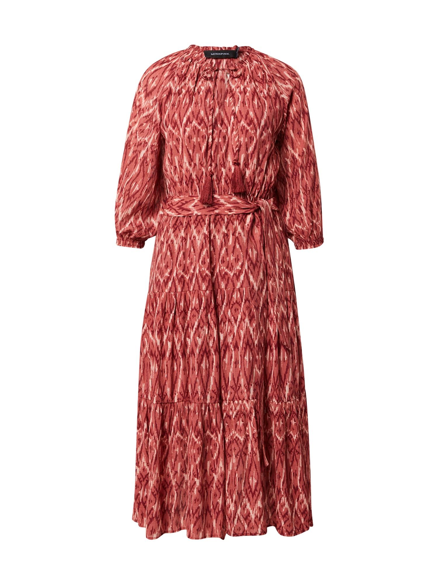 MINKPINK Suknelė raudona / kraujo spalva / balta
