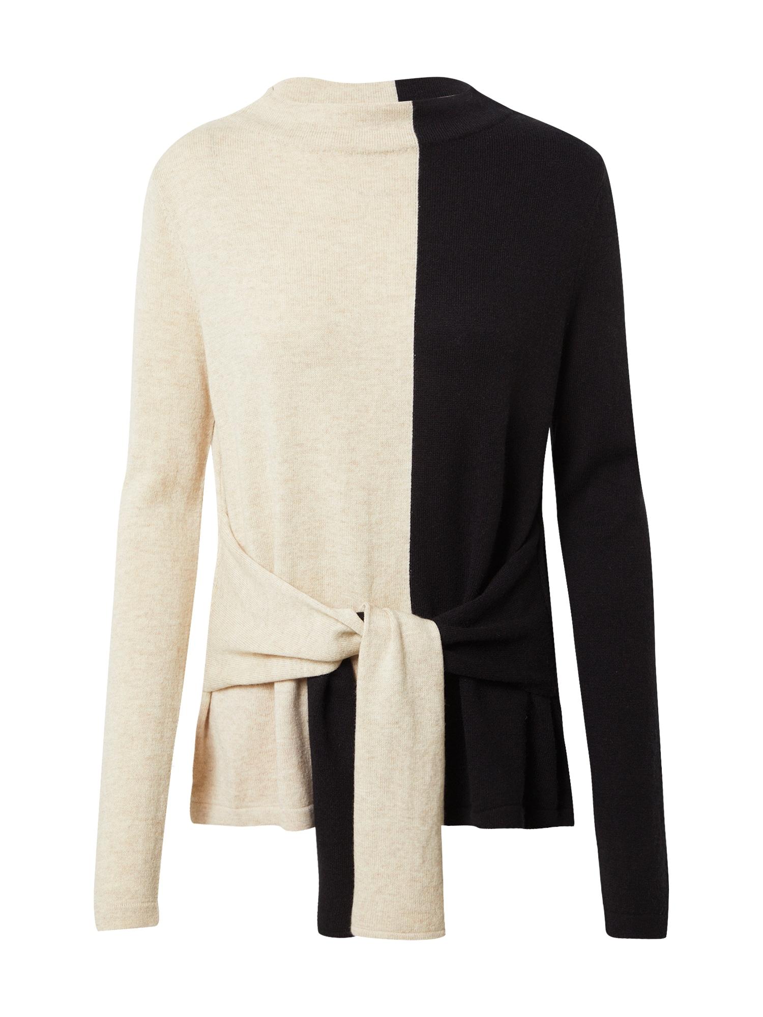 Someday Megztinis juoda / smėlio spalva