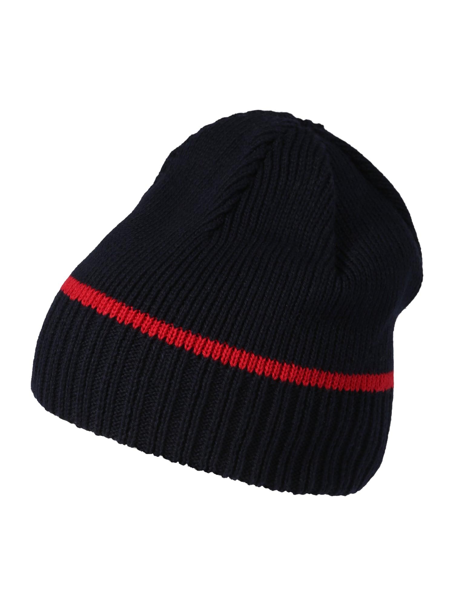 MAXIMO Megzta kepurė tamsiai mėlyna jūros spalva / tamsiai oranžinė