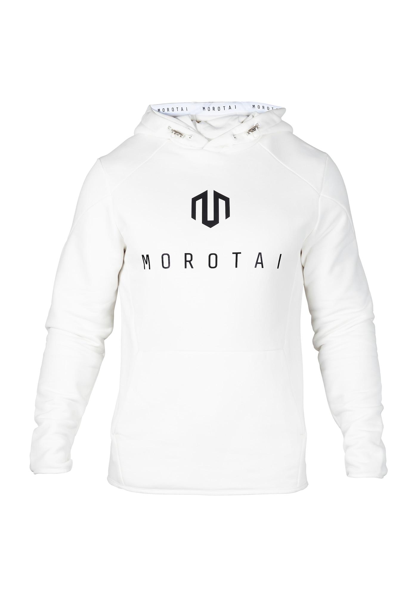 MOROTAI Sportinis megztinis ' NEO Sweathoodie ' balta / juoda