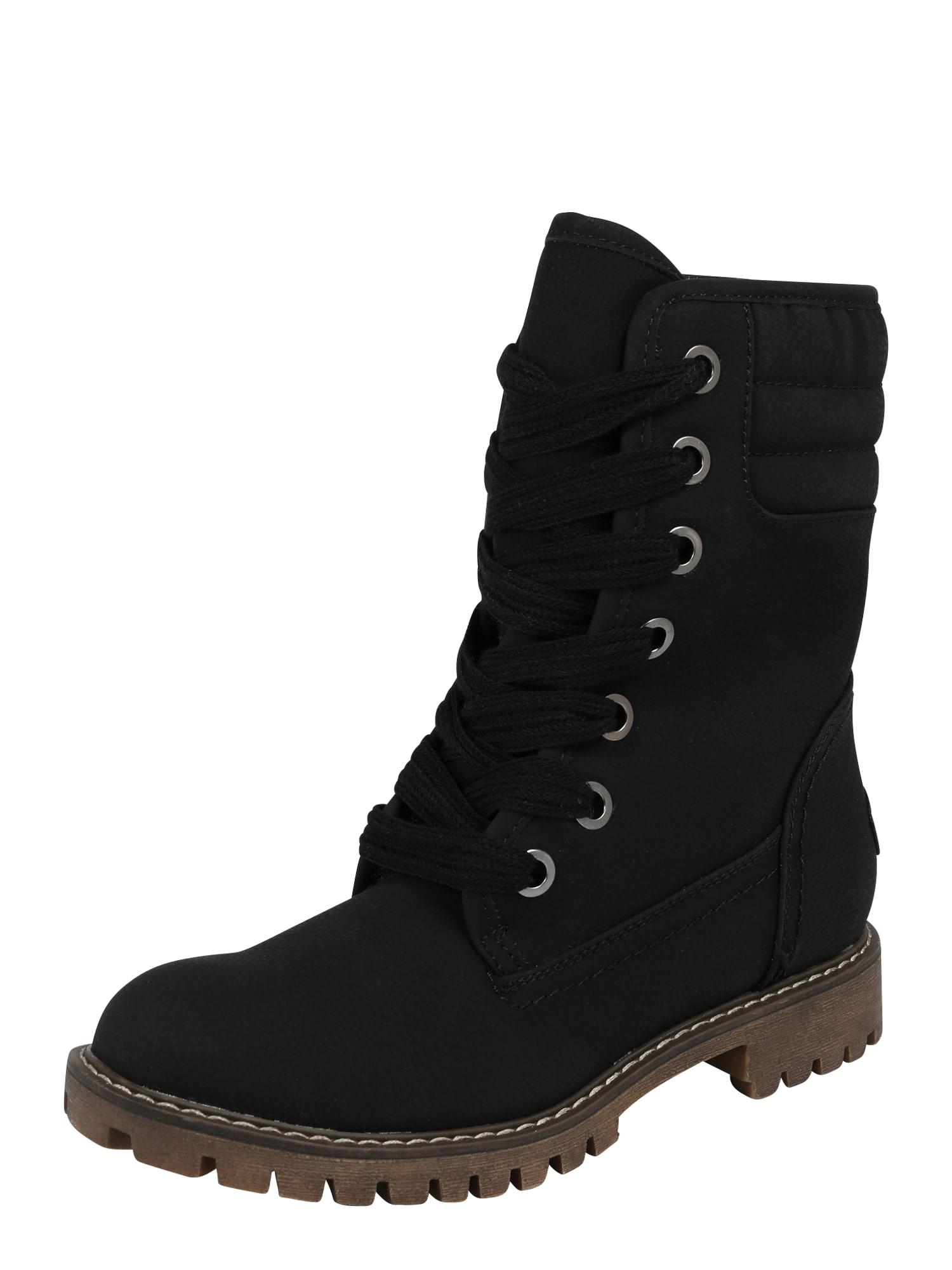 ROXY Šněrovací boty 'Aldean'  černá