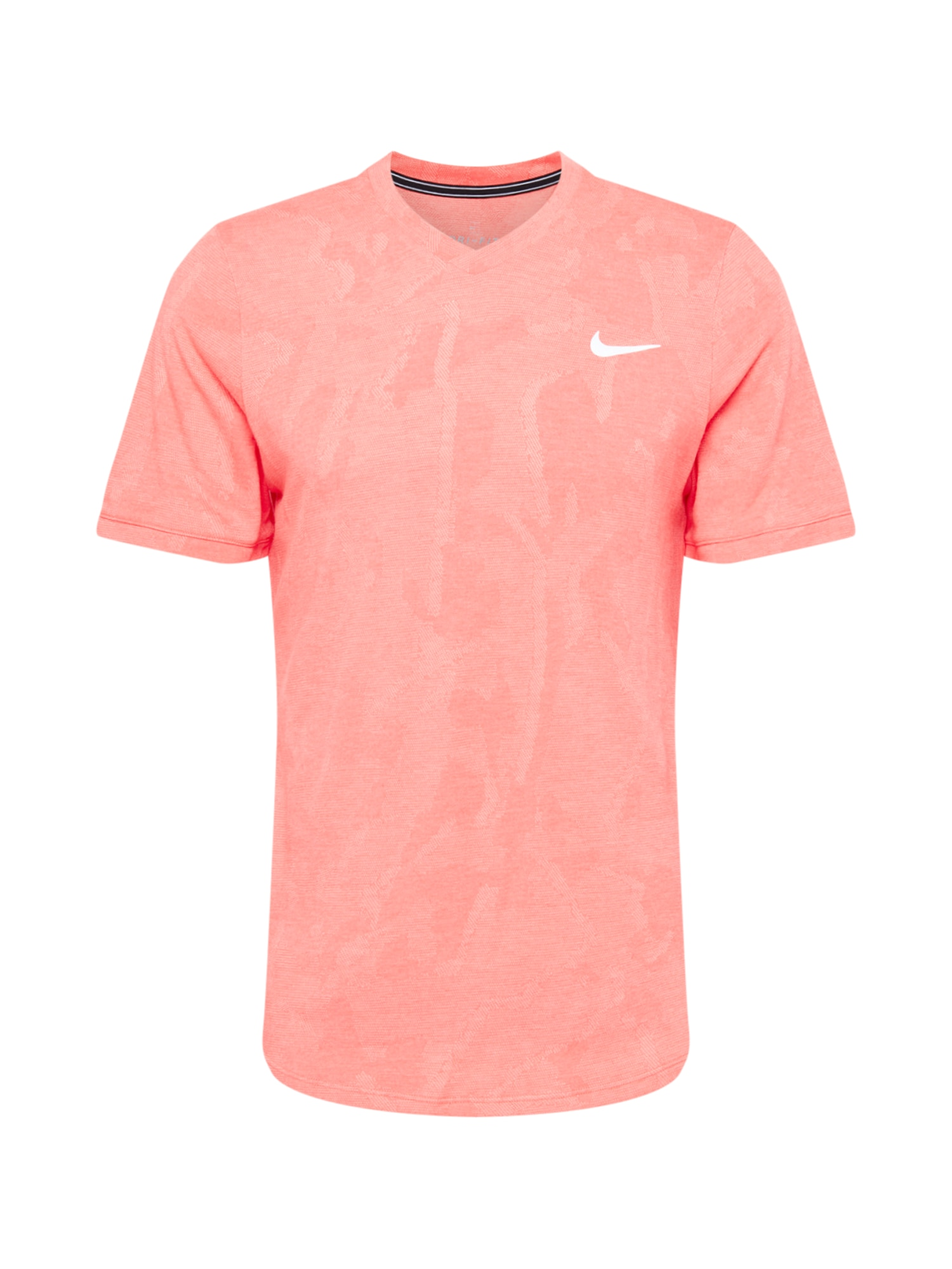 NIKE Funkční tričko 'Challenger'  lososová / bílá