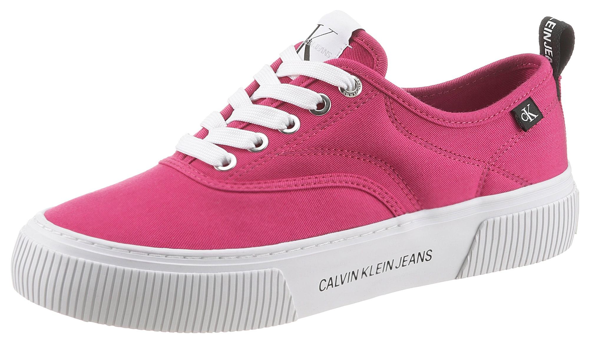 Calvin Klein Jeans Sportbačiai be auliuko rožinė / balta / juoda