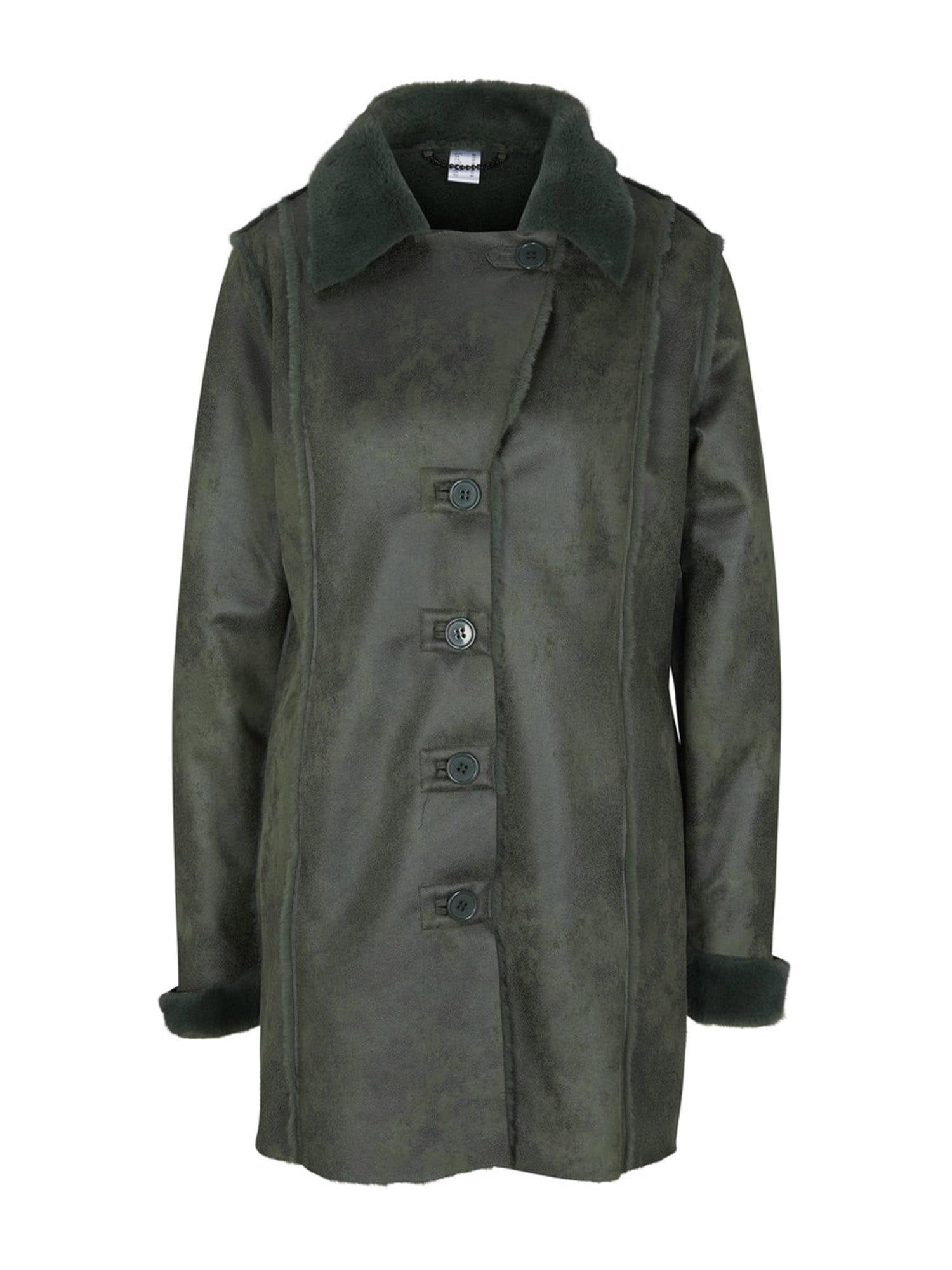 heine Žieminis paltas tamsiai žalia
