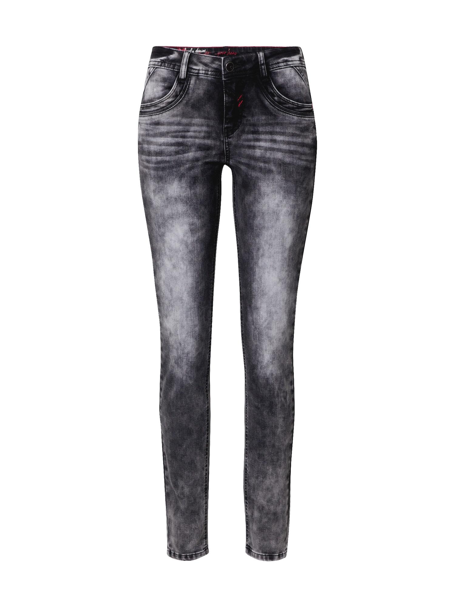STREET ONE Džinsai juodo džinso spalva