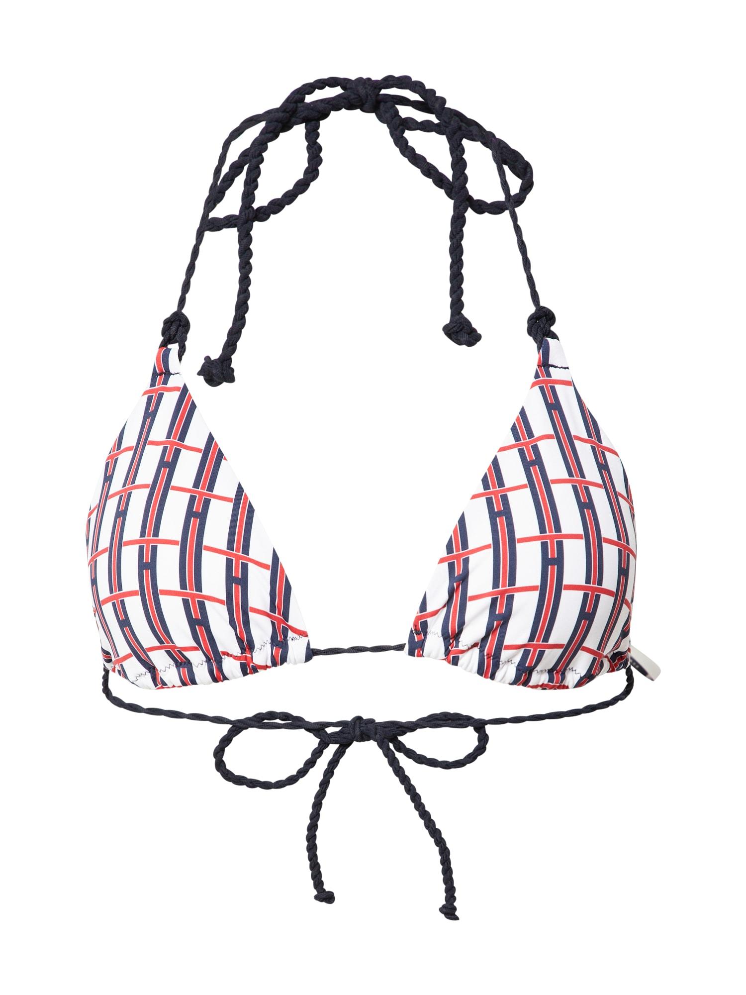 Tommy Hilfiger Underwear Bikinio viršutinė dalis balta / tamsiai mėlyna / raudona / nakties mėlyna