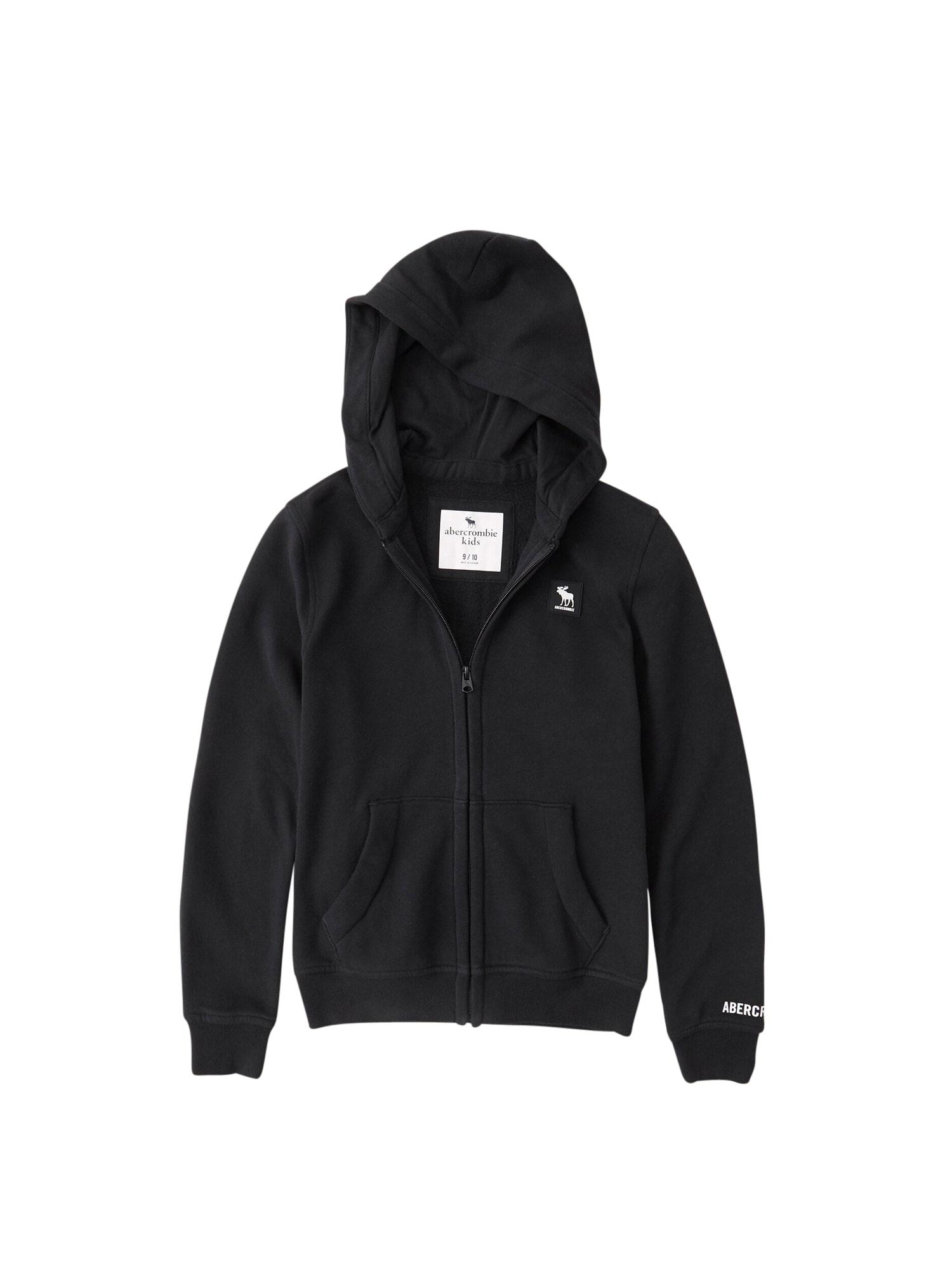 Abercrombie & Fitch Džemperis juoda / balta